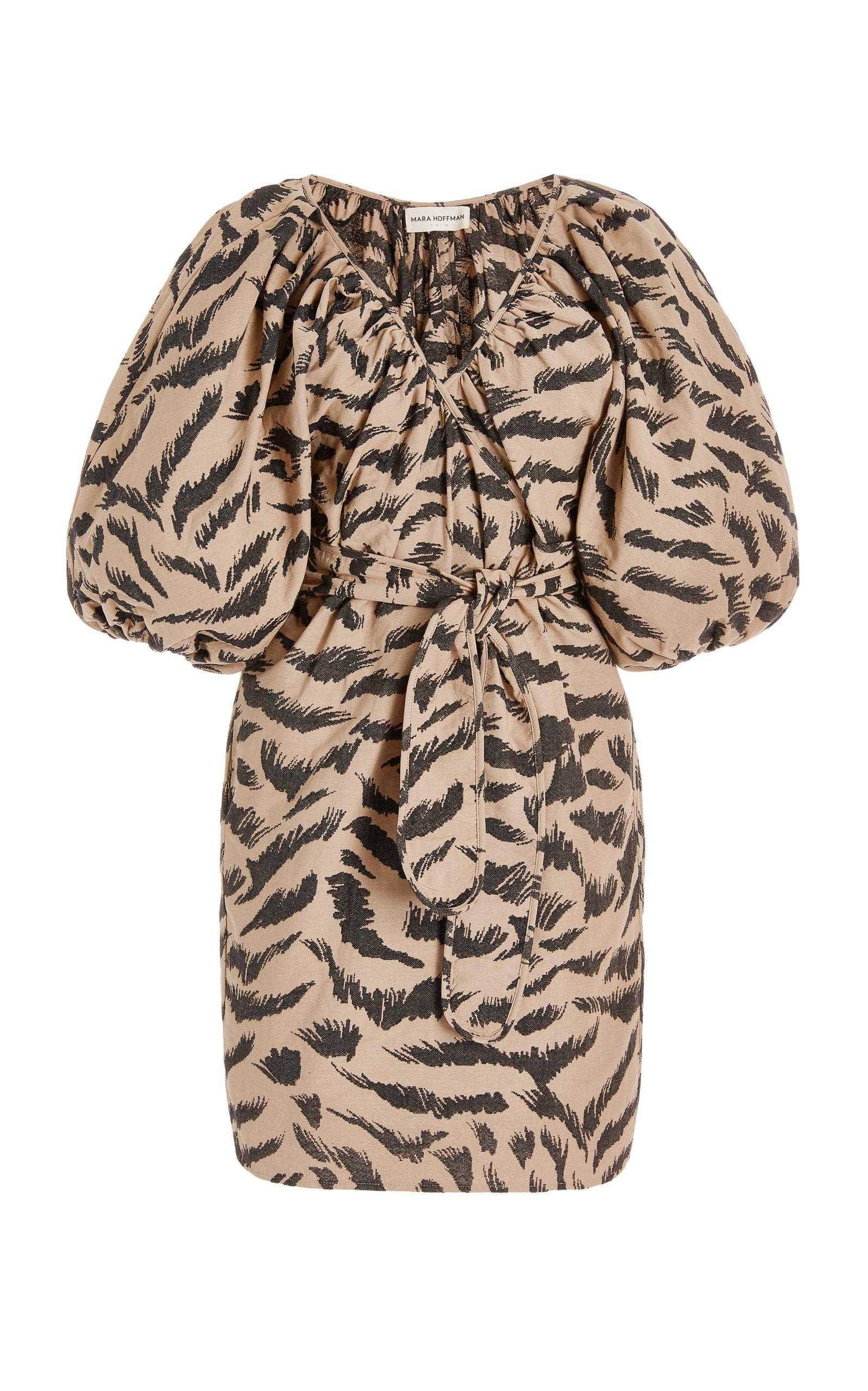 Mara Hoffman Cottons WOMEN'S COLETTA ORGANIC COTTON JACQUARD MINI WRAP DRESS