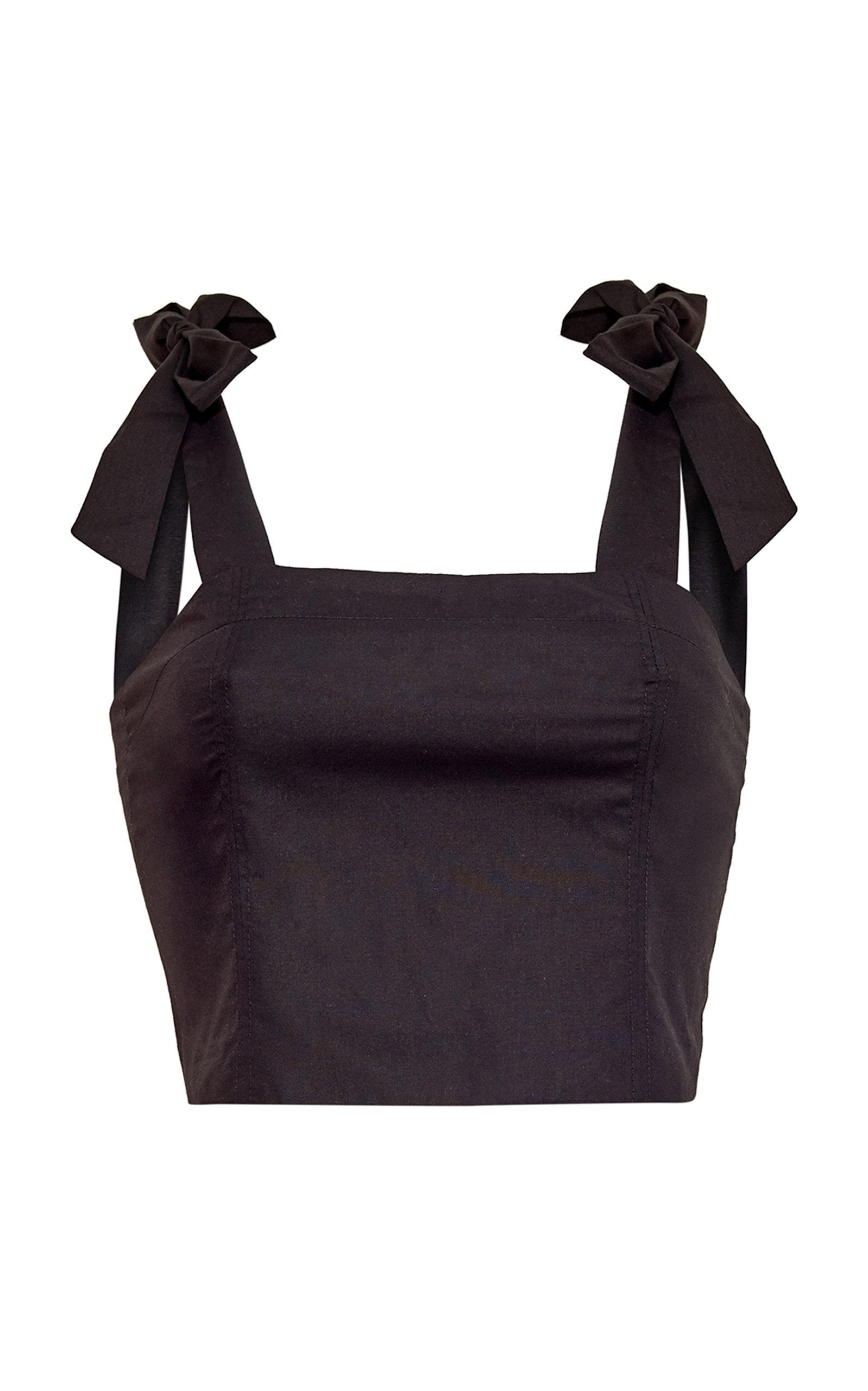 Women's Helena Cotton-Poplin Cropped Top