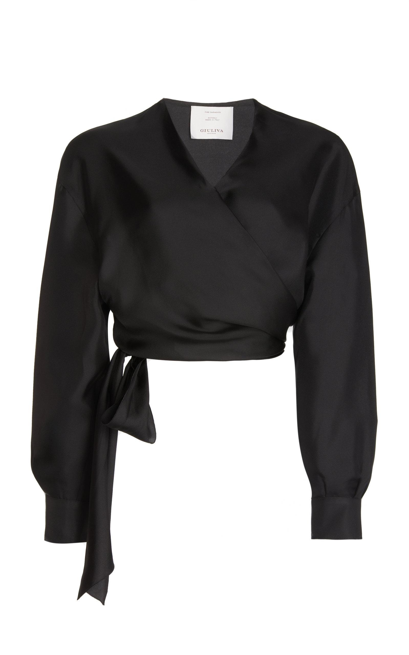 Women's Elsa Silk Wrap Shirt