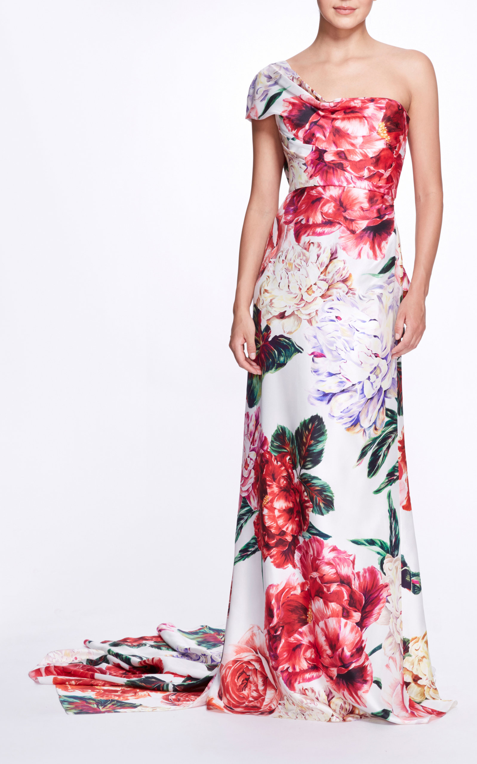 Marchesa FLORAL SILK GOWN