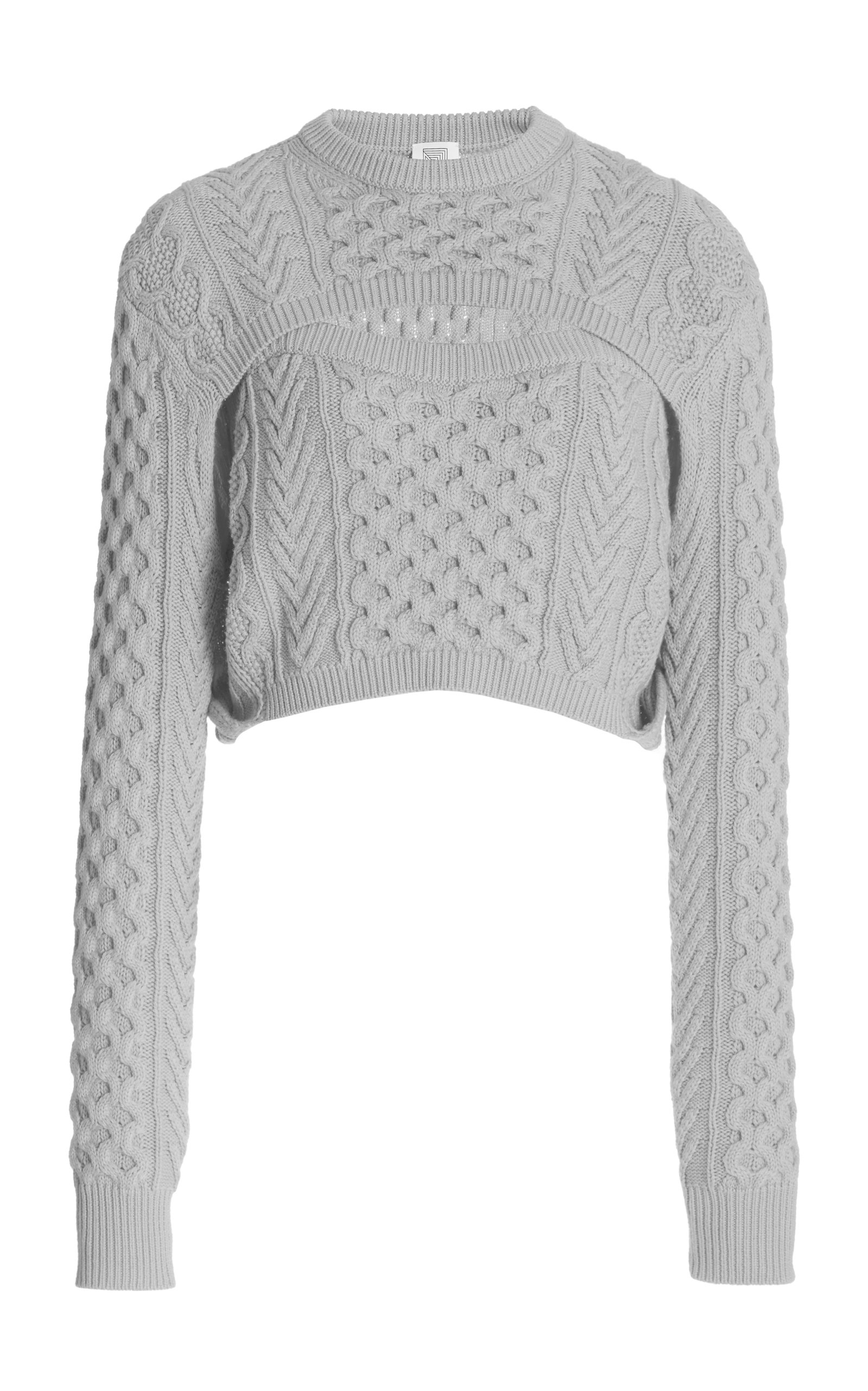 Rosie Assoulin Women's Exclusive Thousand-in-one-ways Wool-cotton Sweater In Grey,yellow