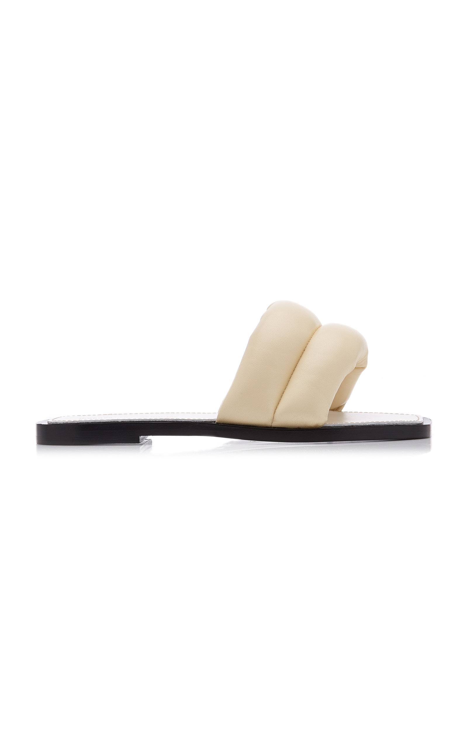 Proenza Schouler Shoes WOMEN'S PUFFY LEATHER SLIDE SANDALS