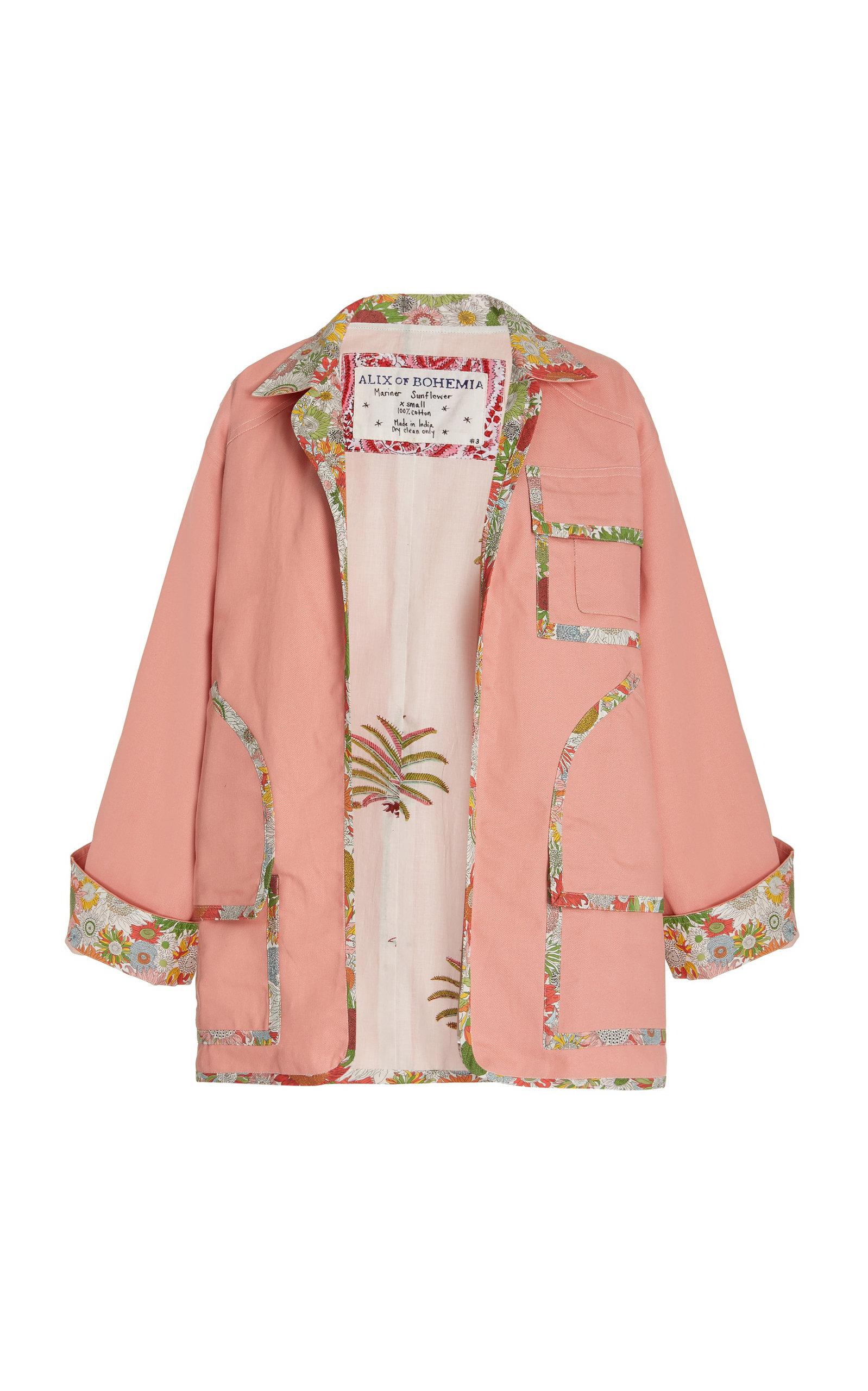 Women's Mariner Sunflower-Trimmed Cotton Coat