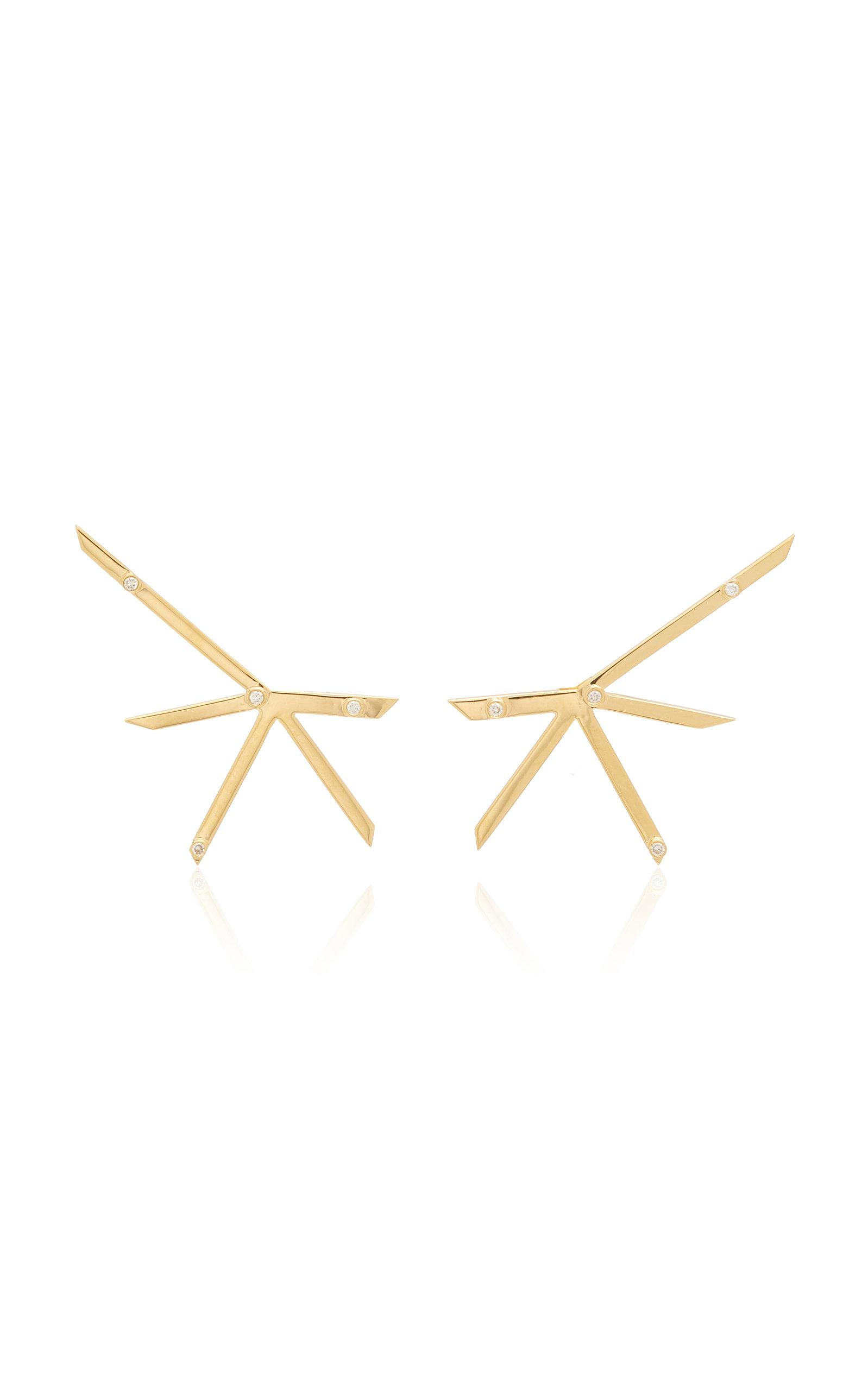 Women's Explosion 18K Yellow Gold Diamond Earrings