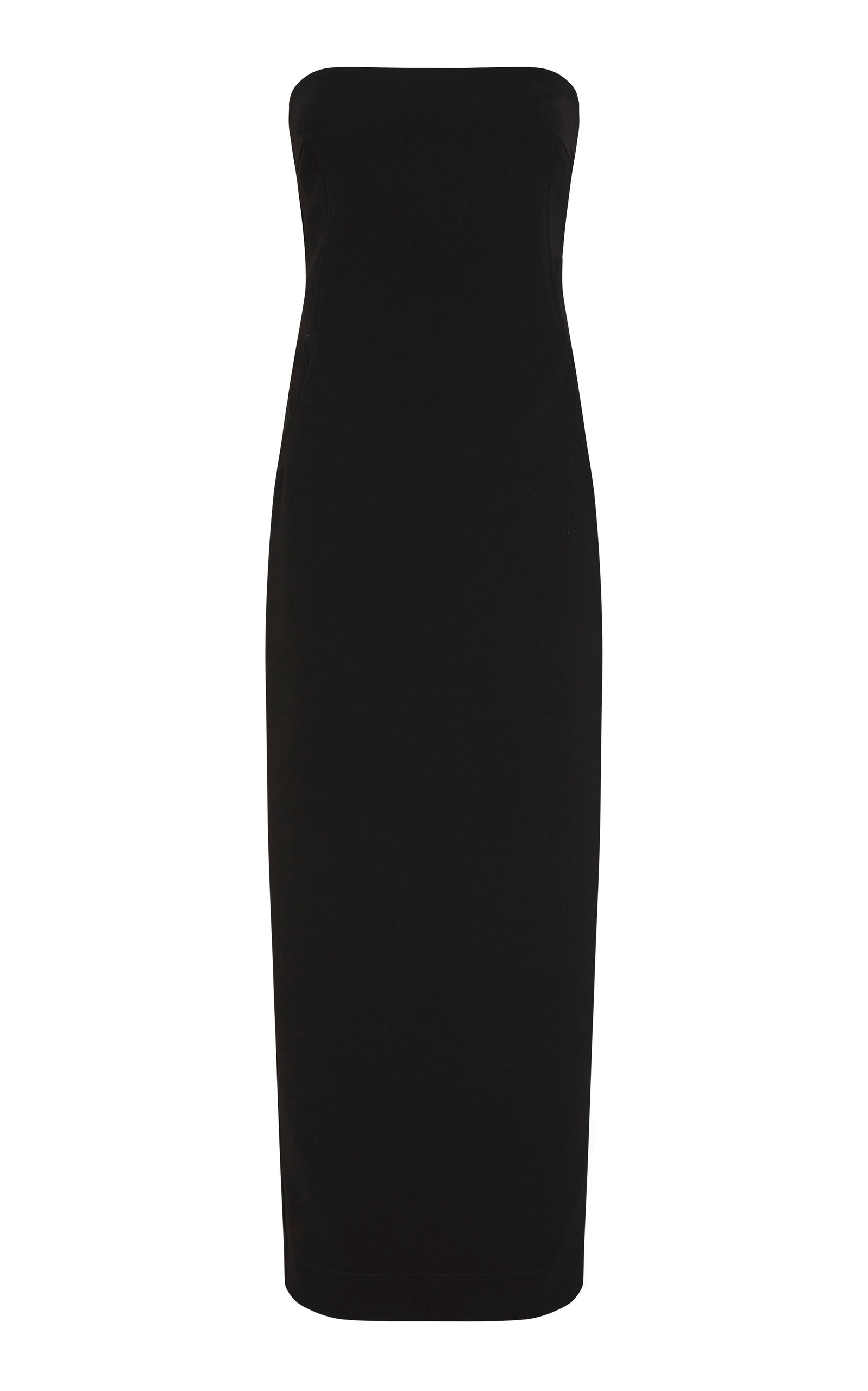 Paris Georgia Women's Audrey Strapless Satin Maxi Dress In Black