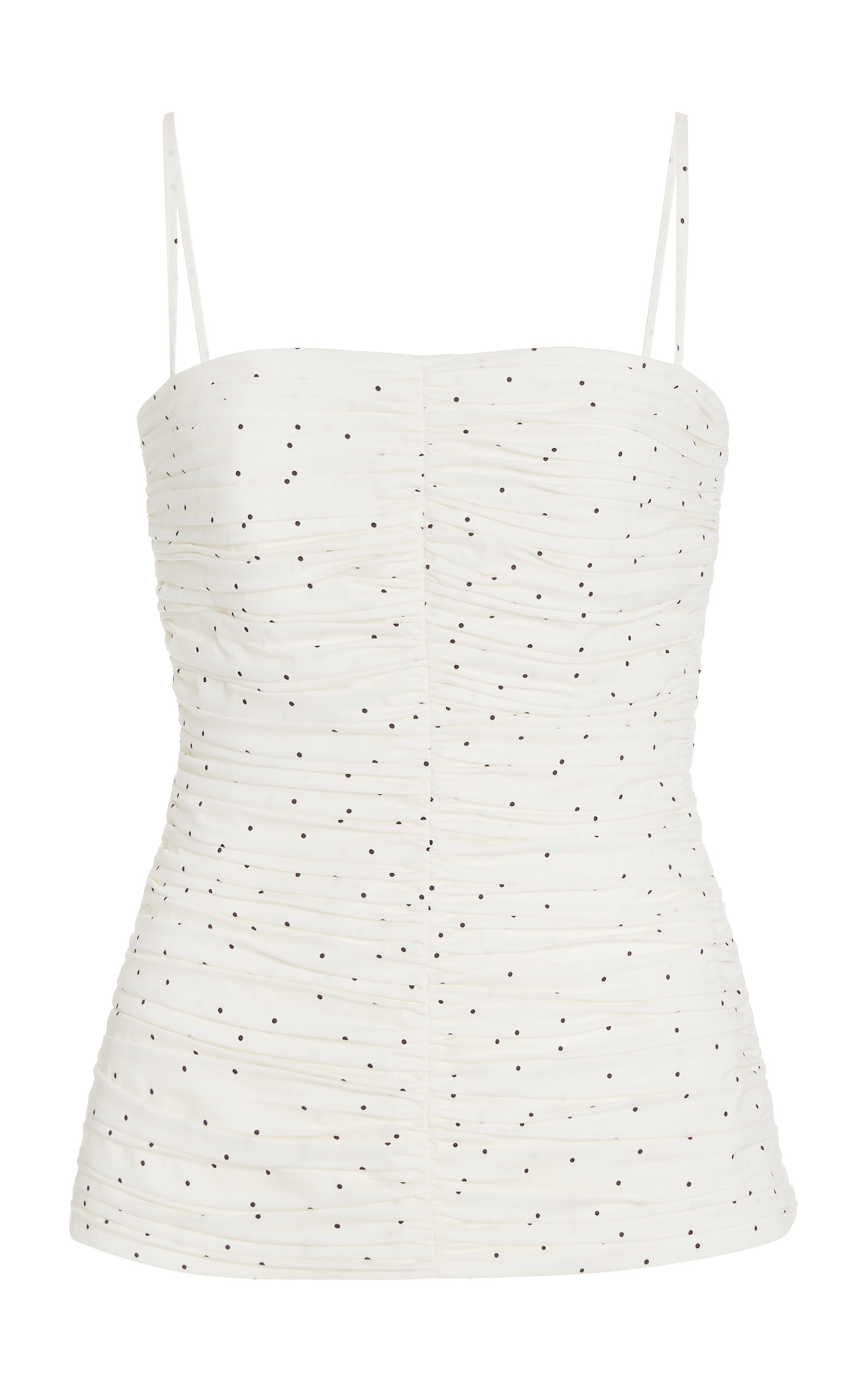 Tove Camisoles WOMEN'S VIVIAN SPOTTED RUCHED COTTON TOP