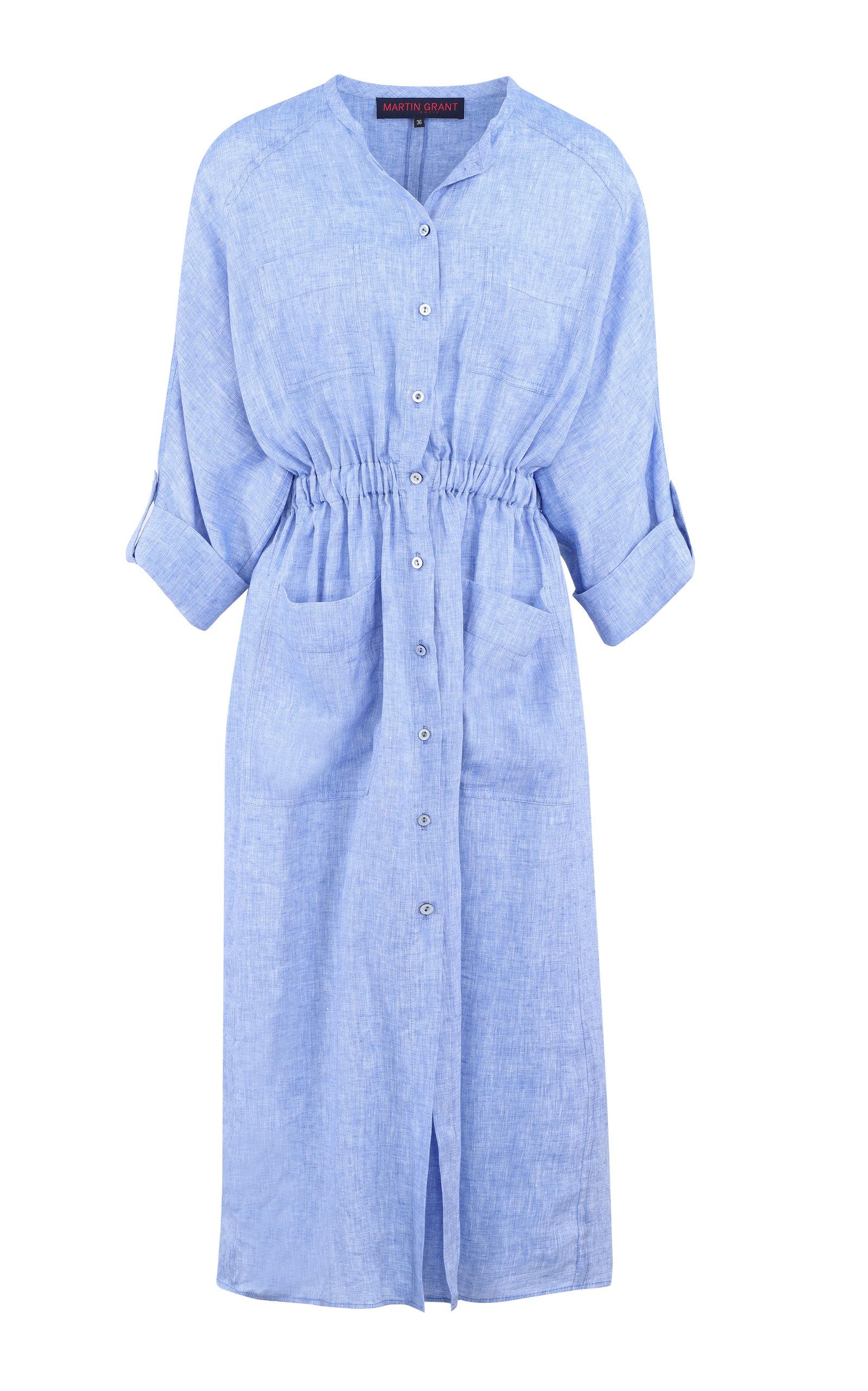 Women's Oversized Linen Shirt Dress