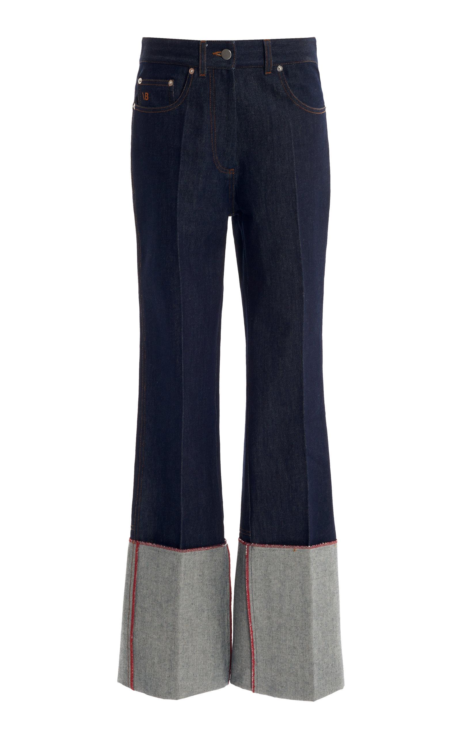 Victoria Beckham Vintage-inspired Straight-leg Jeans In Medium Wash