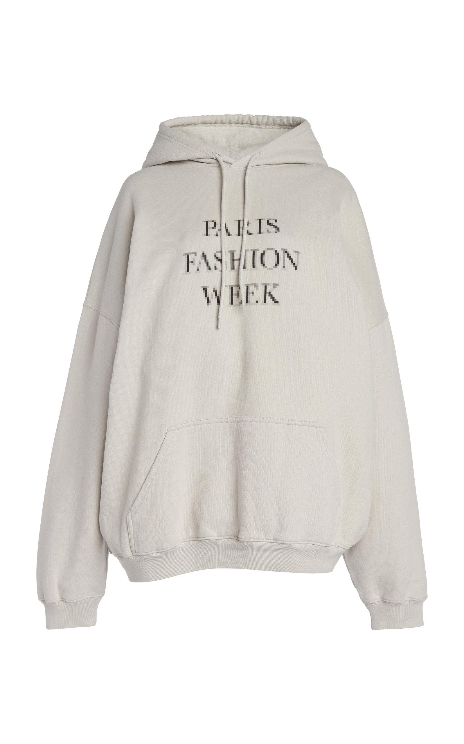 Balenciaga Clothing WOMEN'S OVERSIZED FASHION WEEK COTTON HOODIE