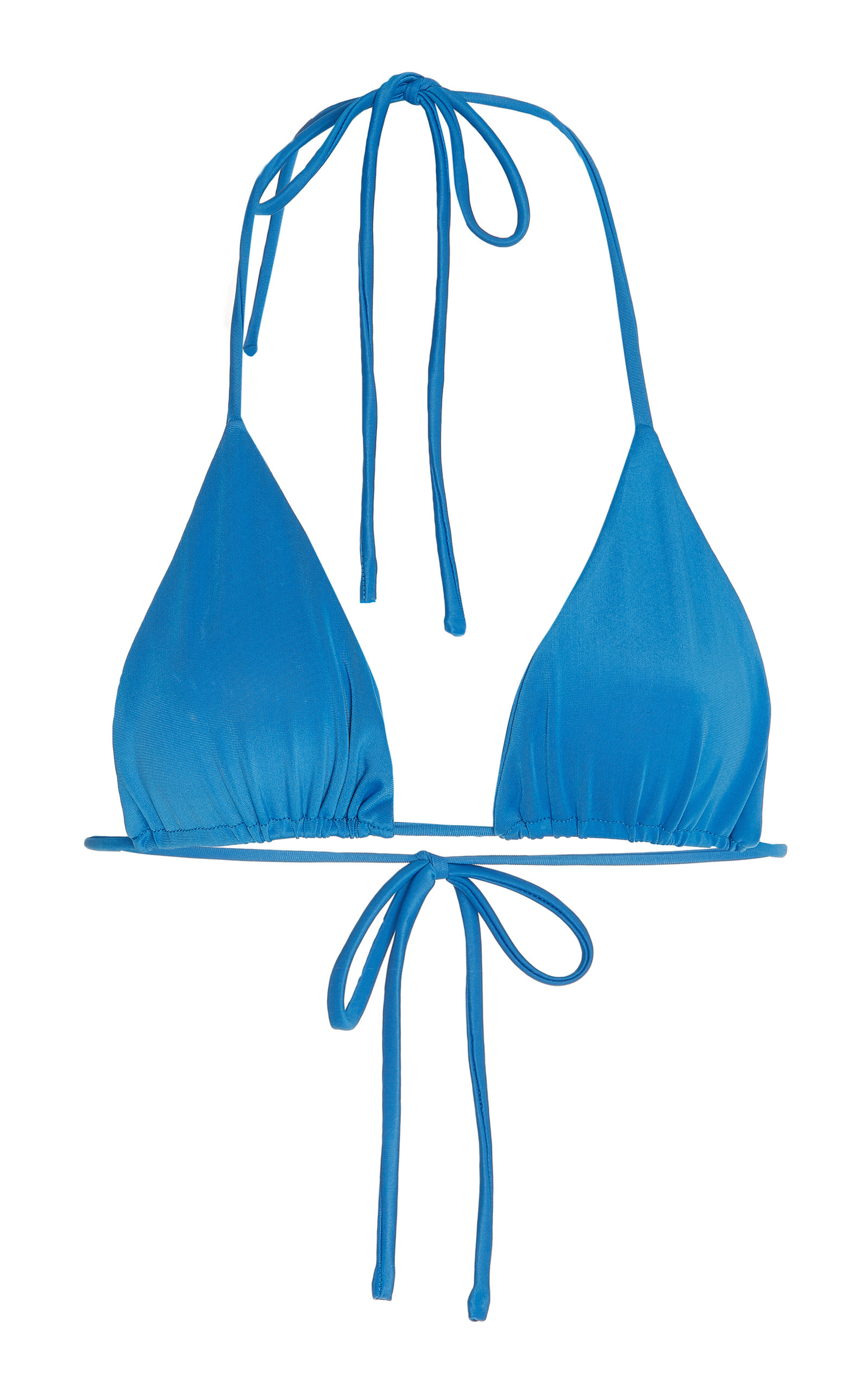 Aexae - Women's Tyra Bikini Top - Blue/brown - Moda Operandi