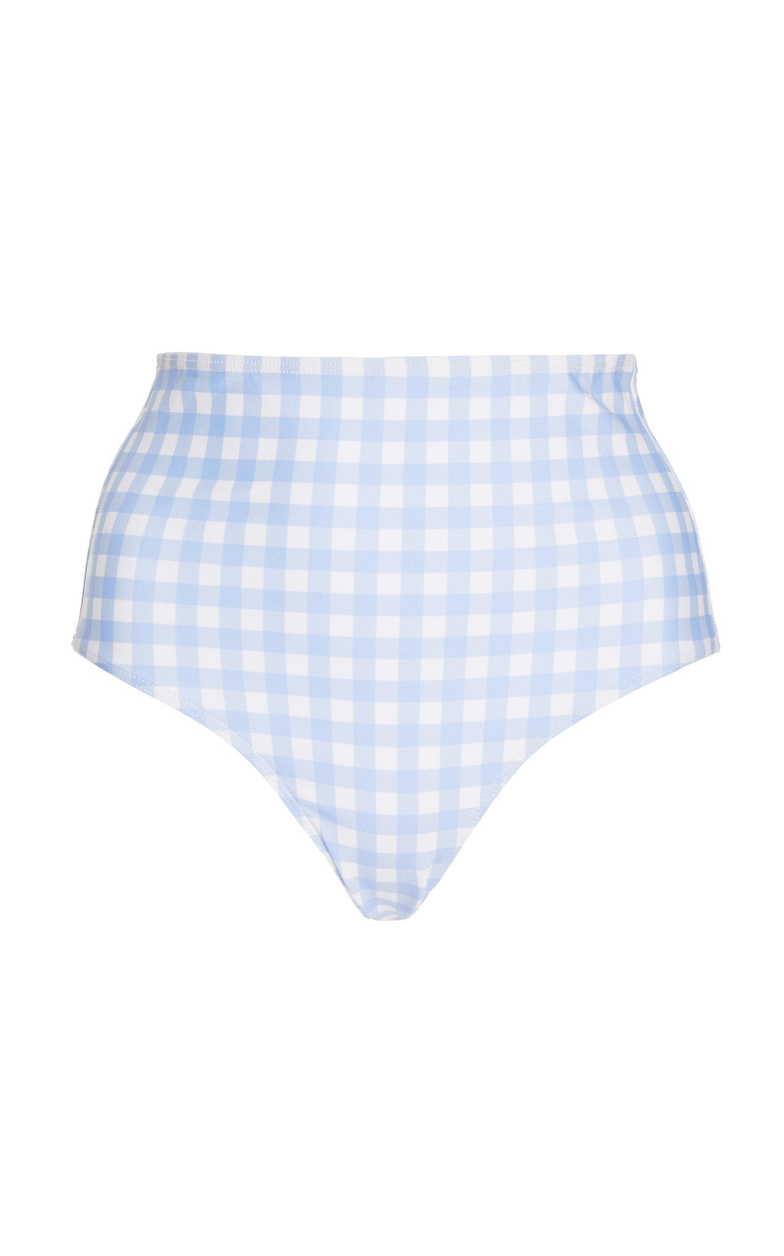 Women's Gingham High-Rise Bikini Bottoms