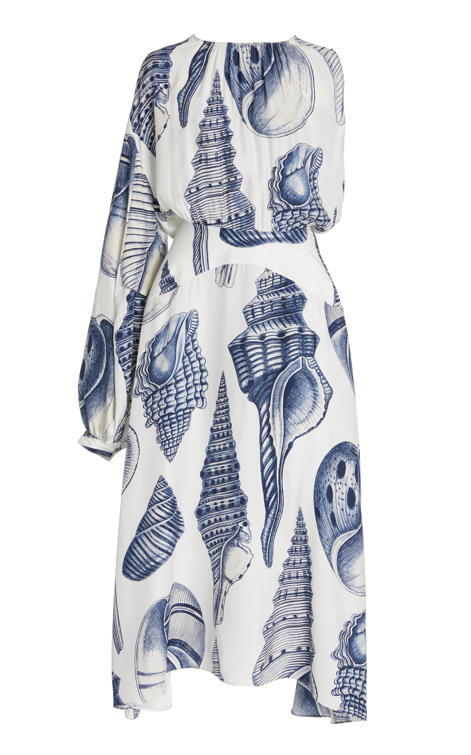 Stella Mccartney CASSANDRA PRINTED SILK MIDI DRESS