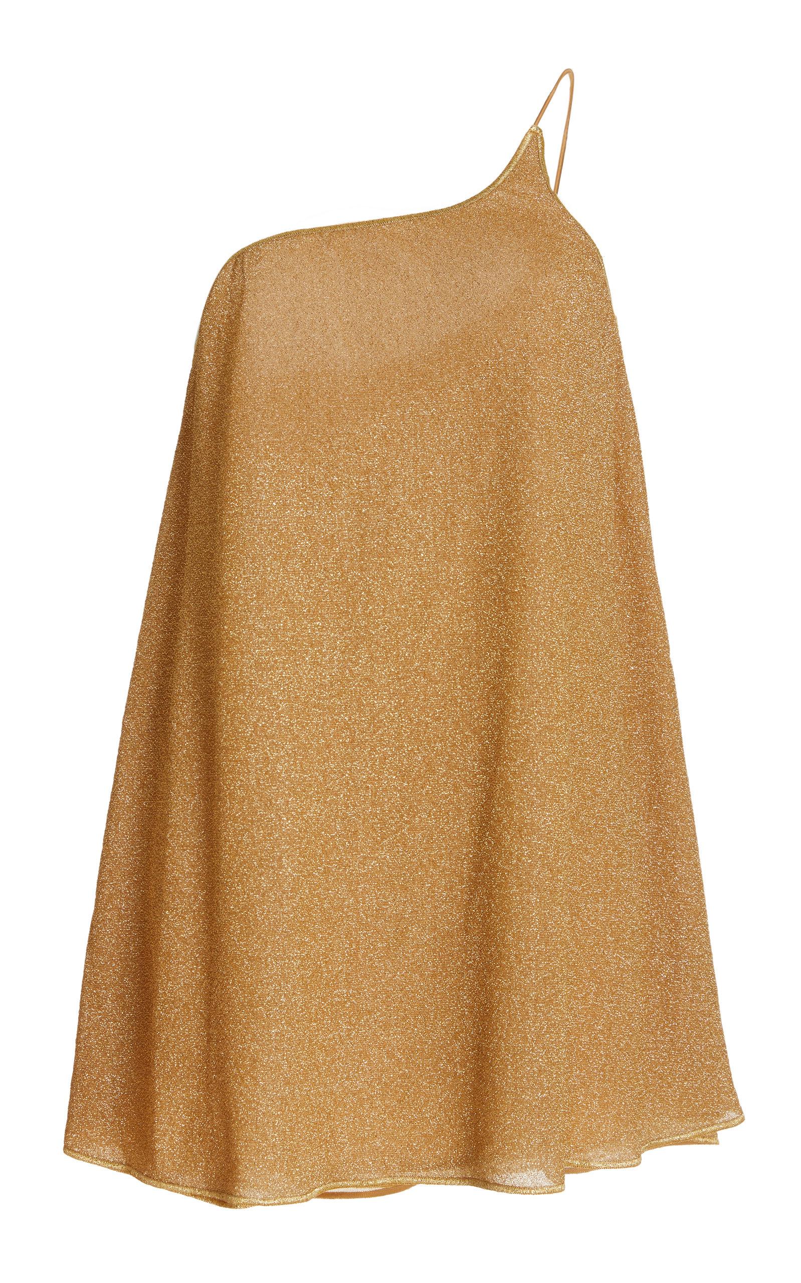 Oseree Mini dresses WOMEN'S LUMIERE ASYMMETRIC LUREX MINI DRESS