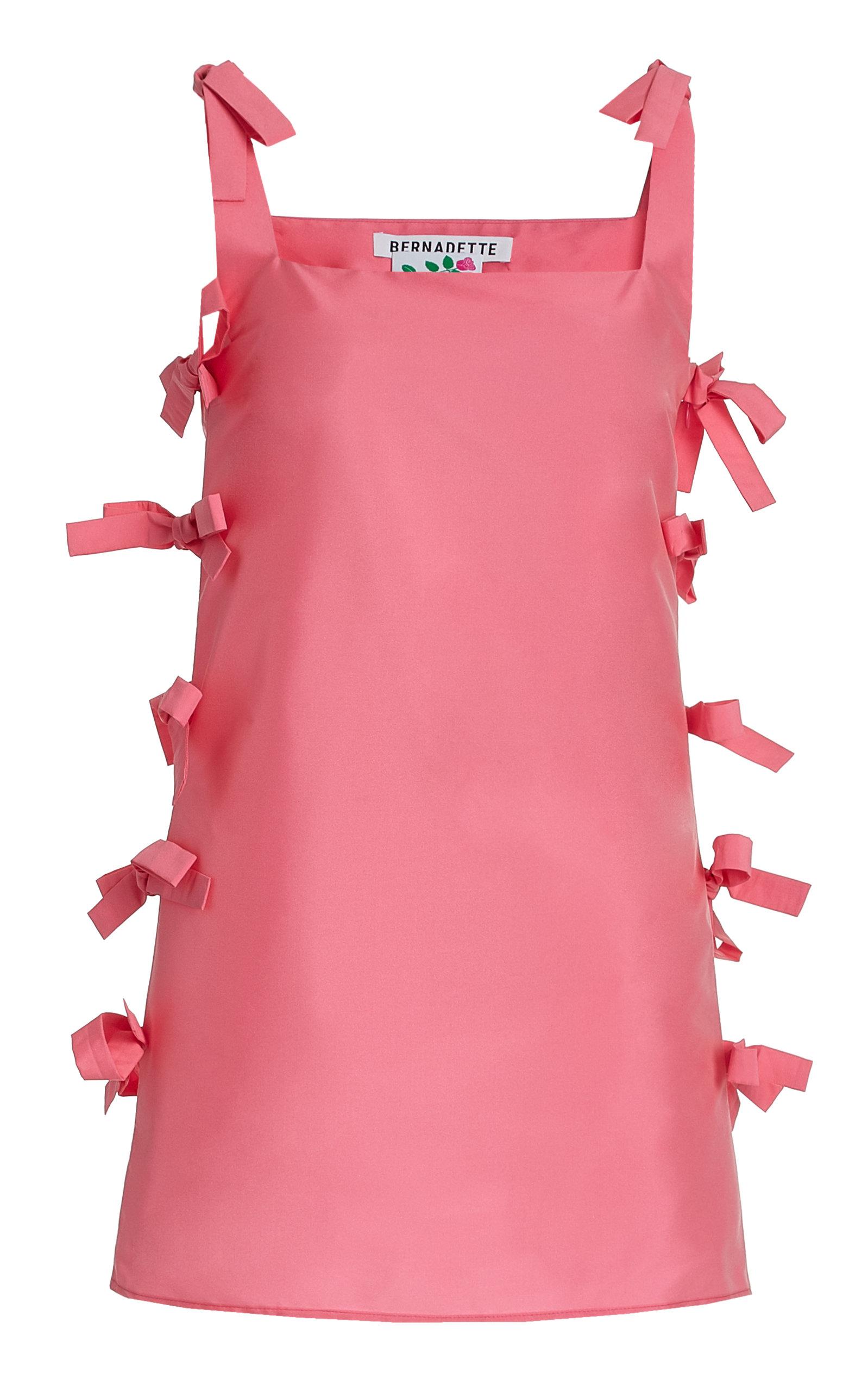 Bernadette Antwerp - Women's Lisa Tie-Detailed Taffeta Mini Dress - Pink - Moda Operandi