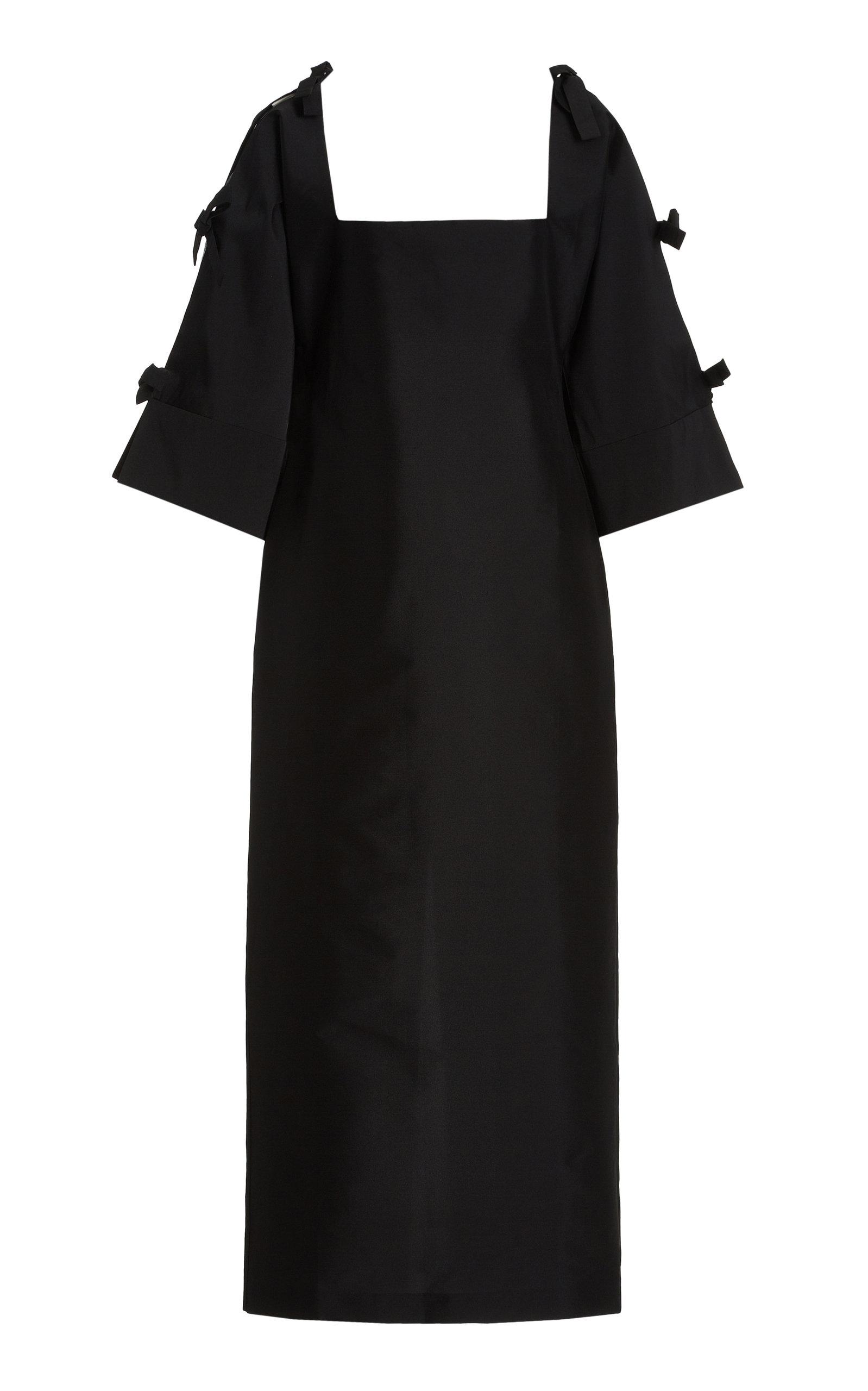 Women's Chloe Tie-Detailed Taffeta Maxi Dress