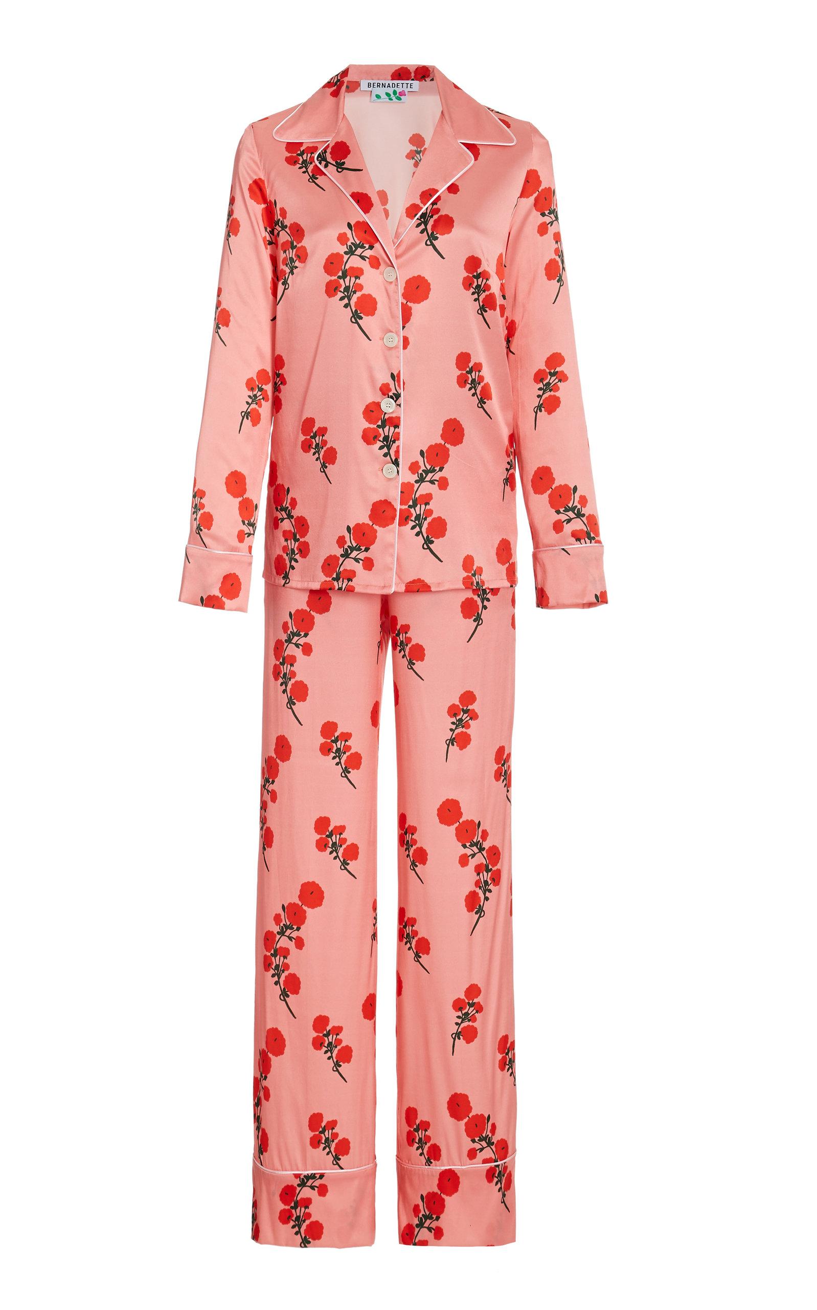Women's Floral Satin Pajama Set