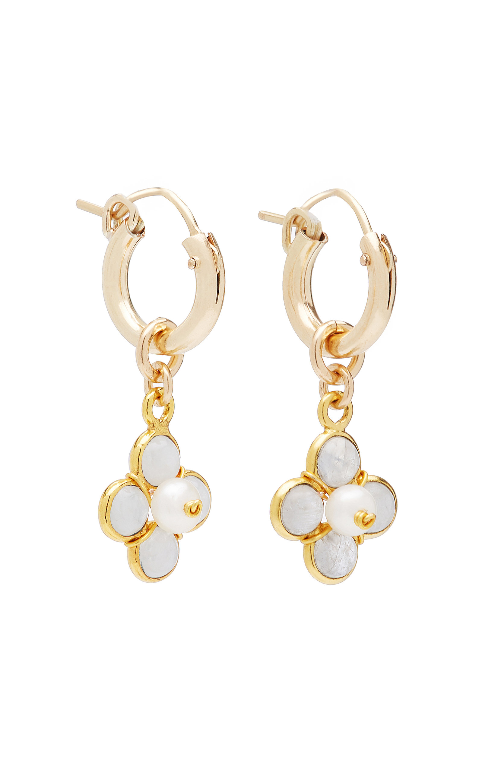 Women's Ginny 24k Gold-Plated and Freshwater Pearl Earrings