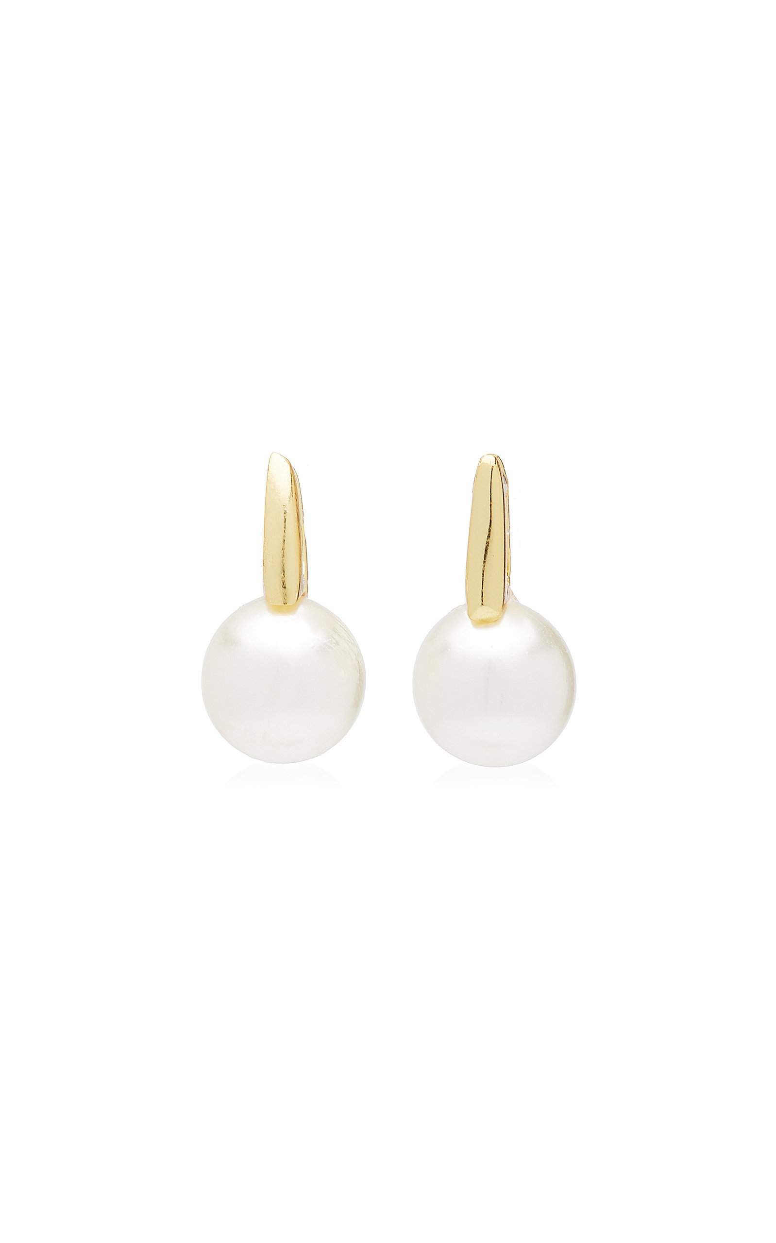 Women's Bubble 24k Gold-Plated and Glass Pearl Huggies