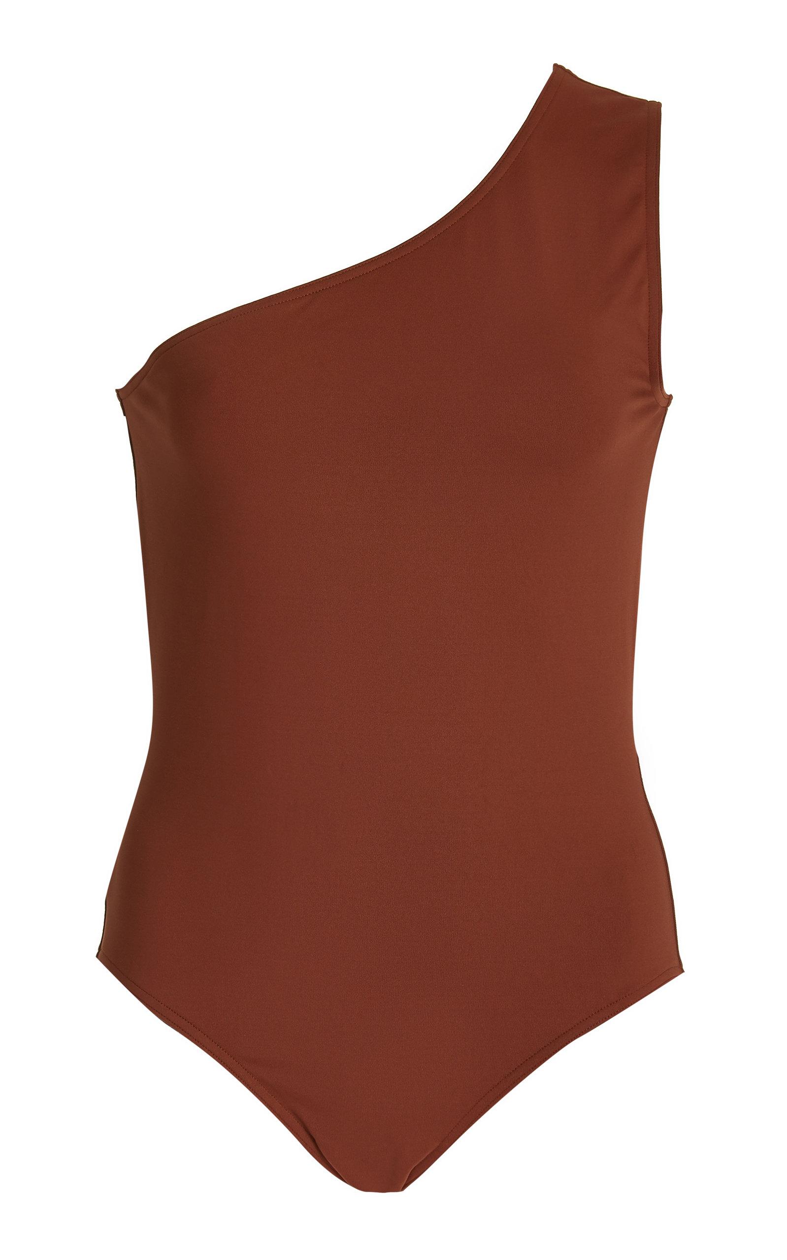 Eres – Women's Effigie Single-Shoulder One-Piece Swimsuit – Brown – Moda Operandi