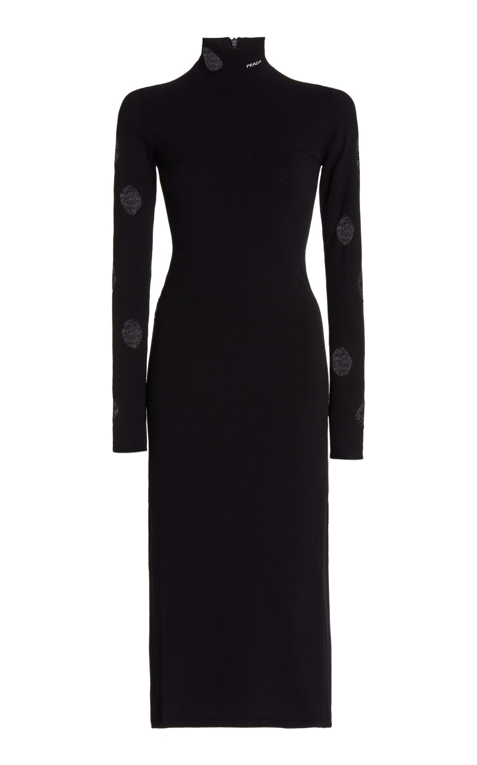 Prada CUTOUT JERSEY MIDI DRESS