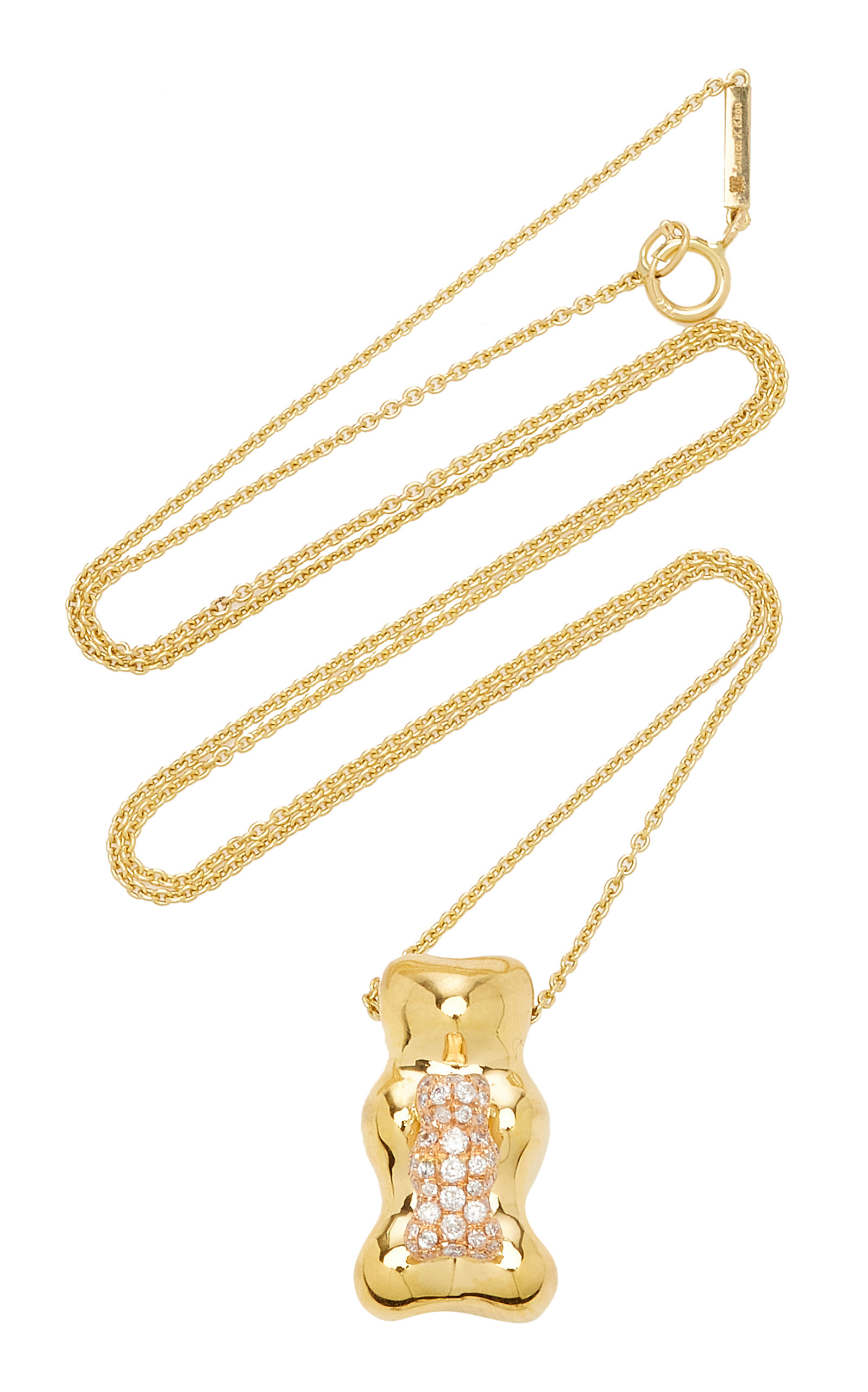 Women's Gummy Bear 18K Gold Diamond Necklace