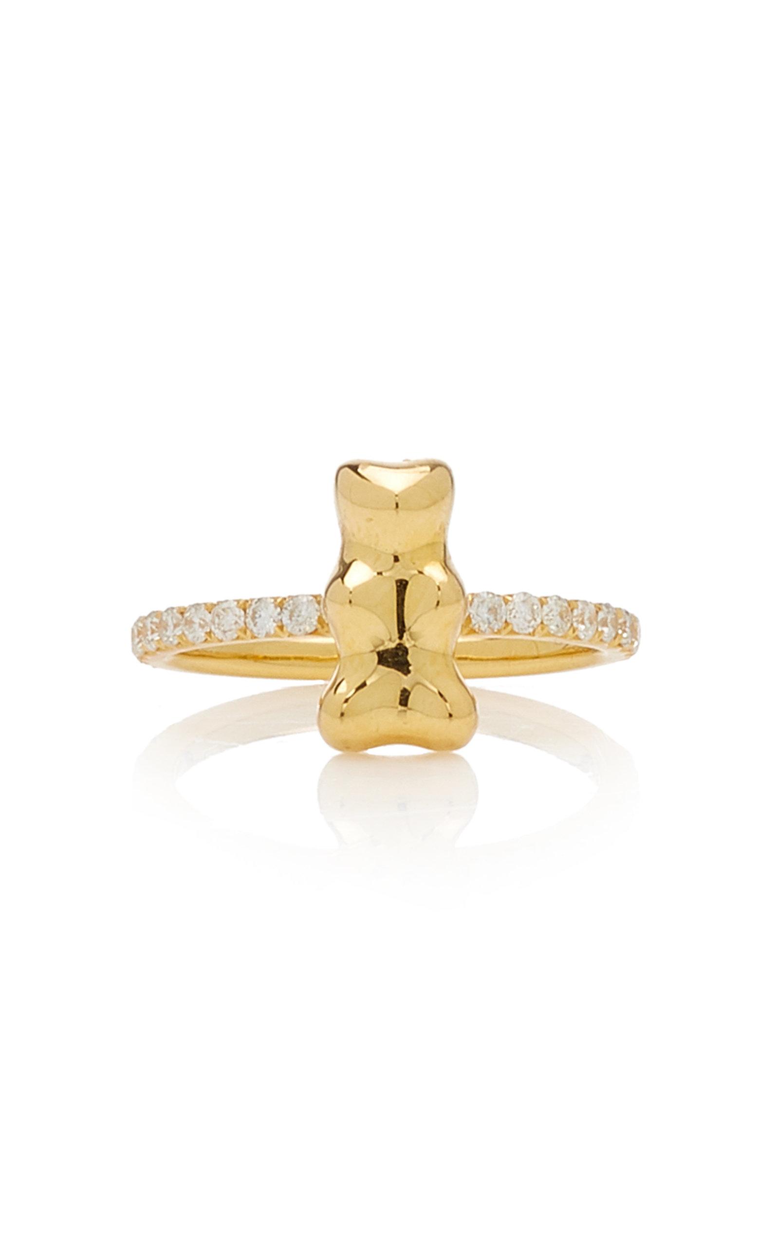 Lauren X Khoo - Women's Gummy Bear 18K Yellow Gold Diamond Ring - Gold - Moda Operandi