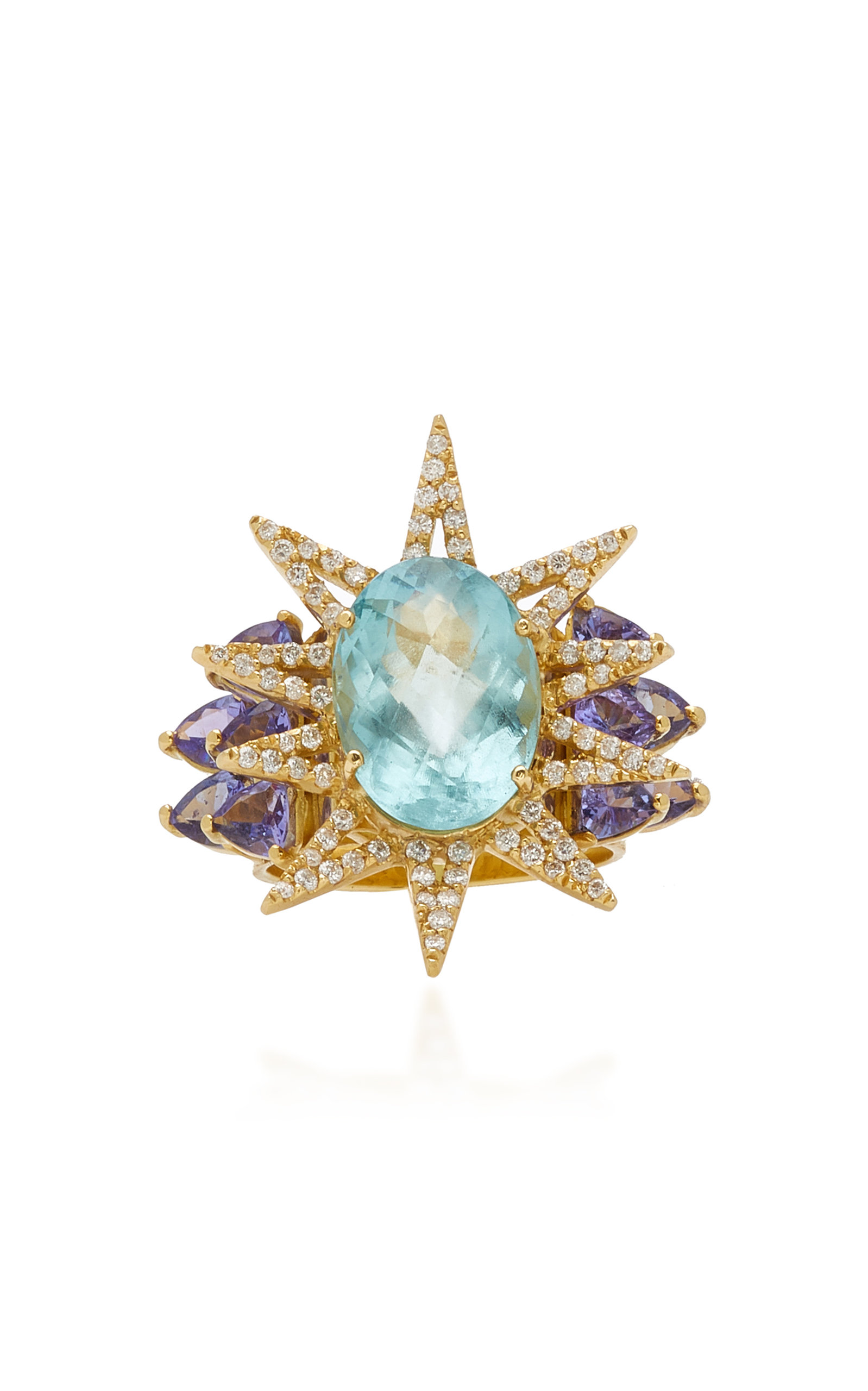 Women's Shine 18K Yellow Gold Multi-Stone Ring
