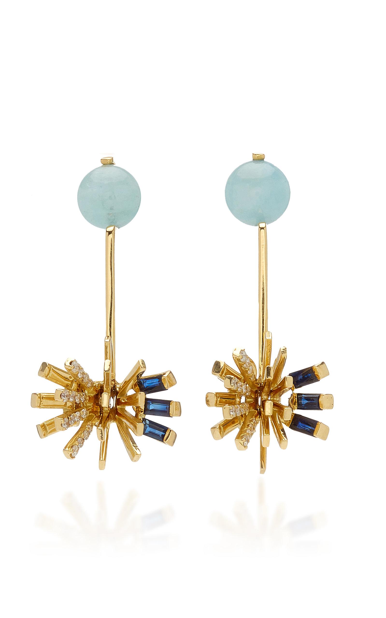 Women's Hedgehog 18K Yellow Gold Multi-Stone Earrings
