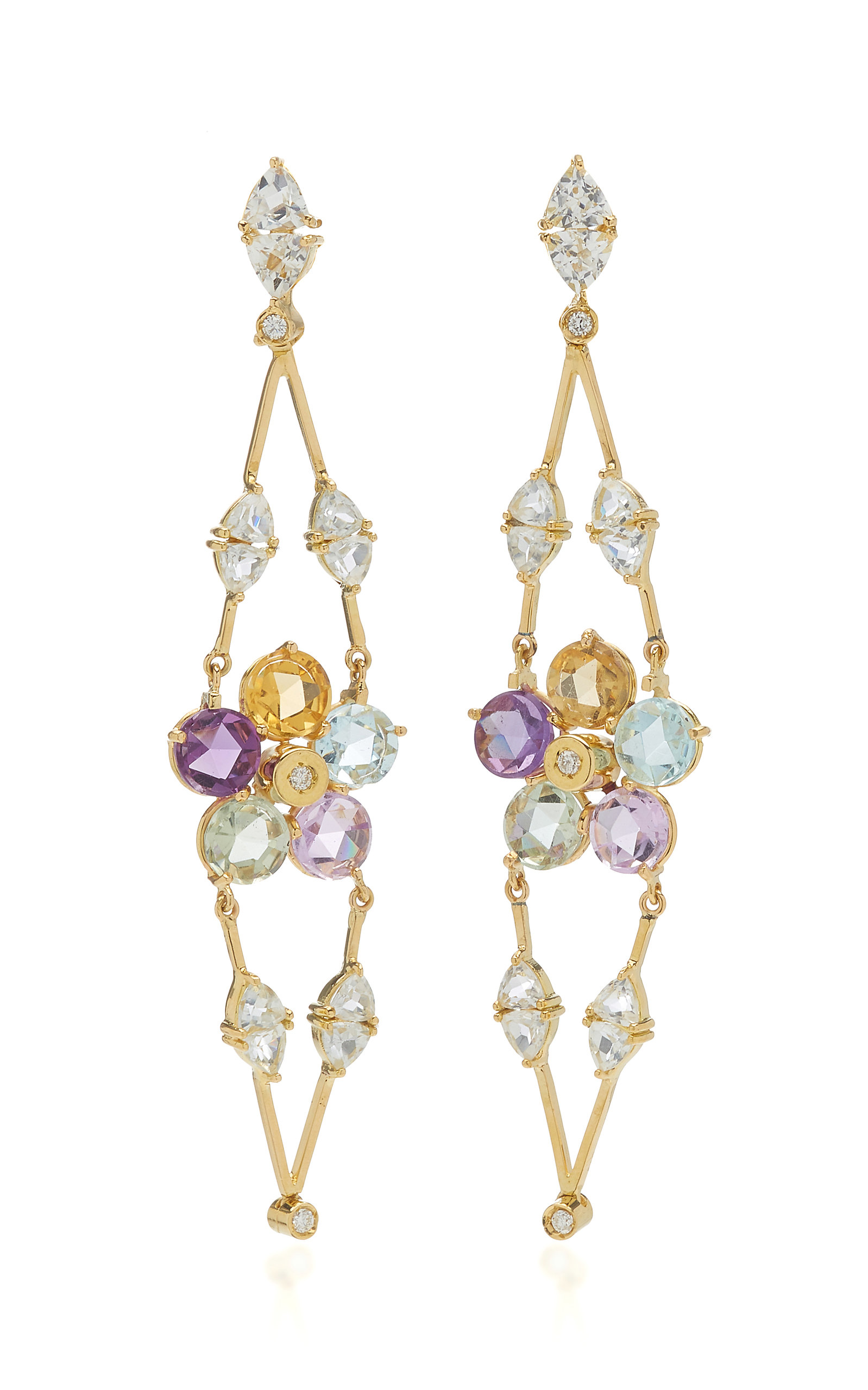 Women's Venezia 18K Yellow Gold Multi-Stone Earrings