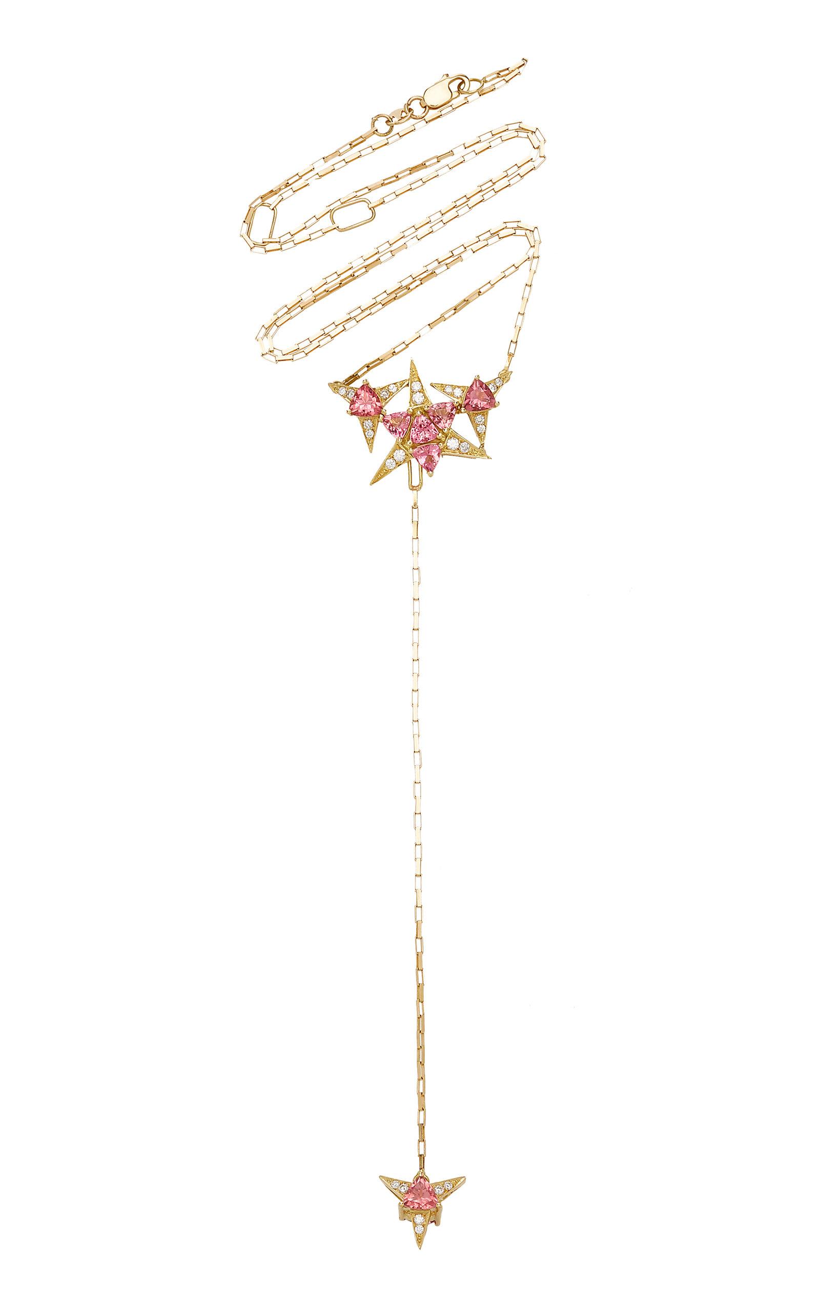 Women's Galactic Star 18K Yellow Gold Tourmaline; Diamond Necklace