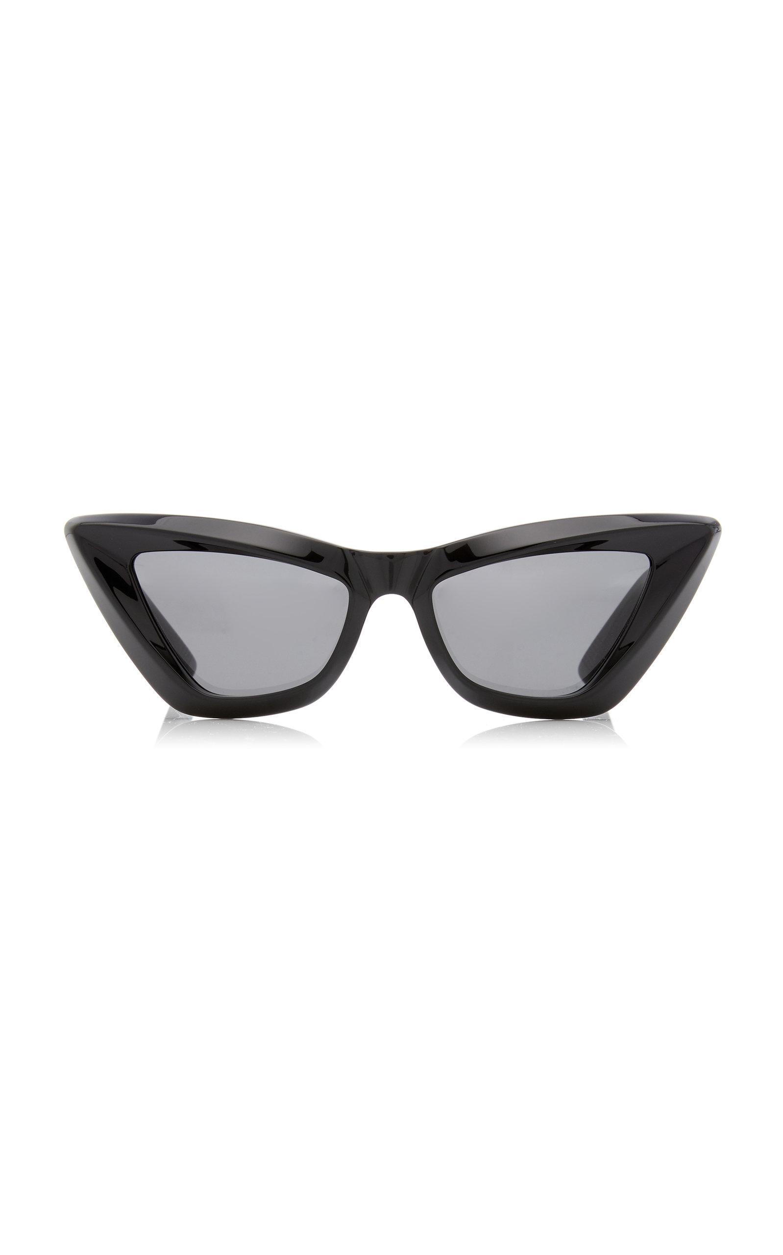 Bottega Veneta - Women's Cat-Eye Acetate Sunglasses - Black - Moda Operandi