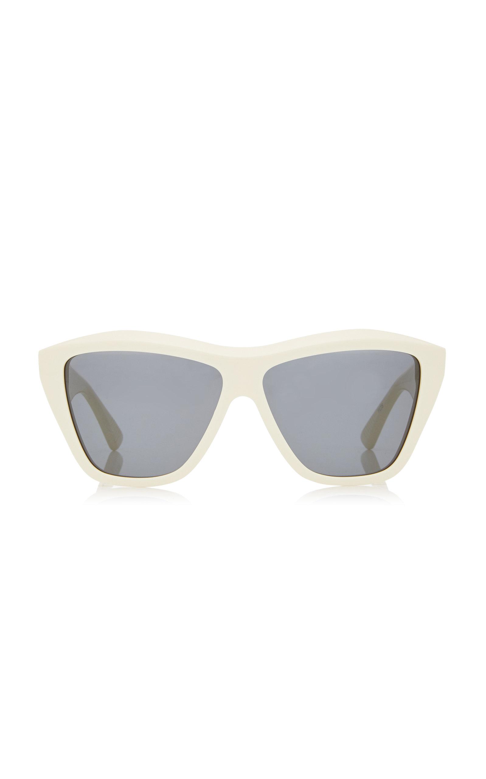 Bottega Veneta - Women's Oversized Square-Frame Acetate Sunglasses - White - Moda Operandi