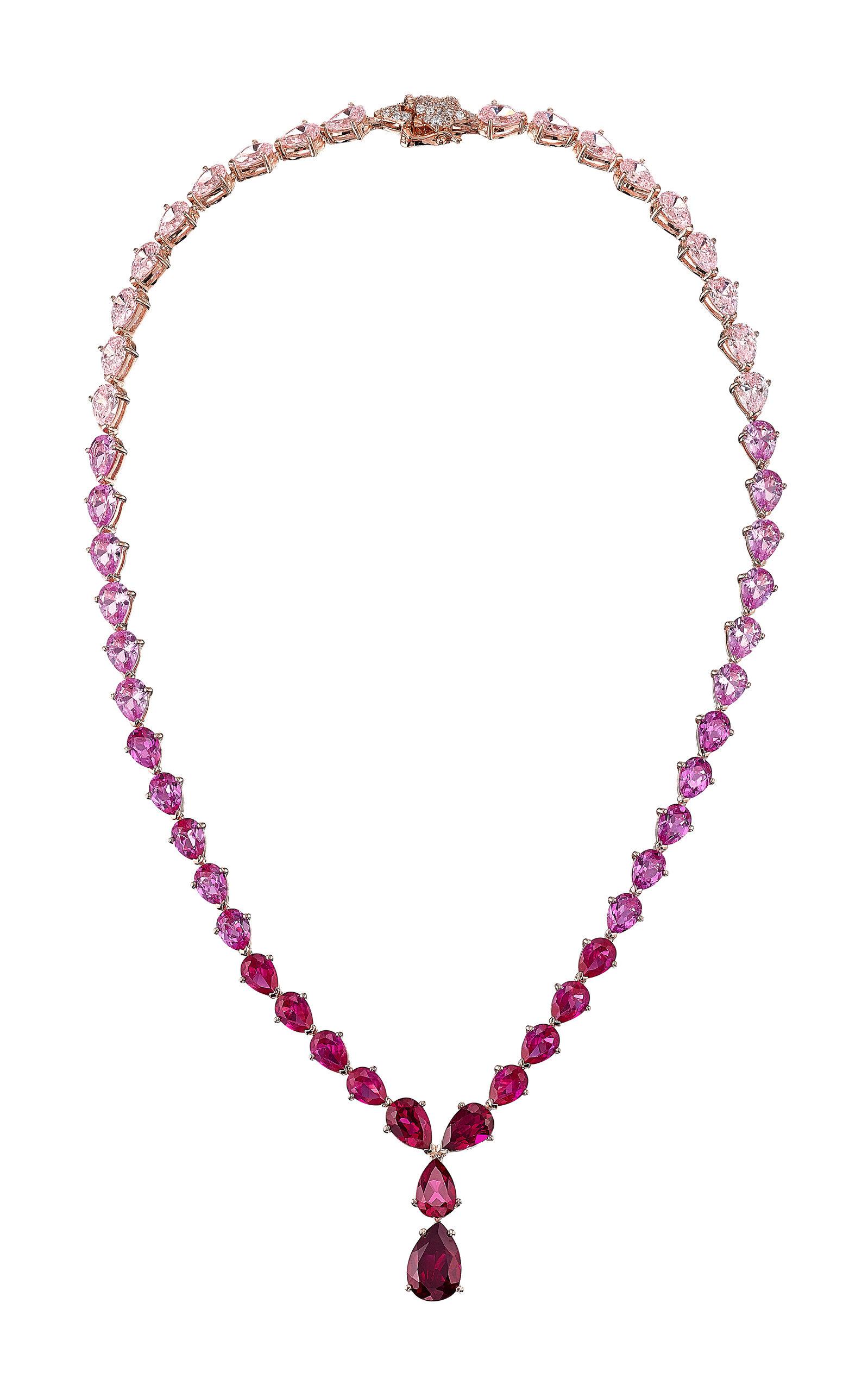 Women's Nova 18K Rose Gold Multi-Stone Necklace