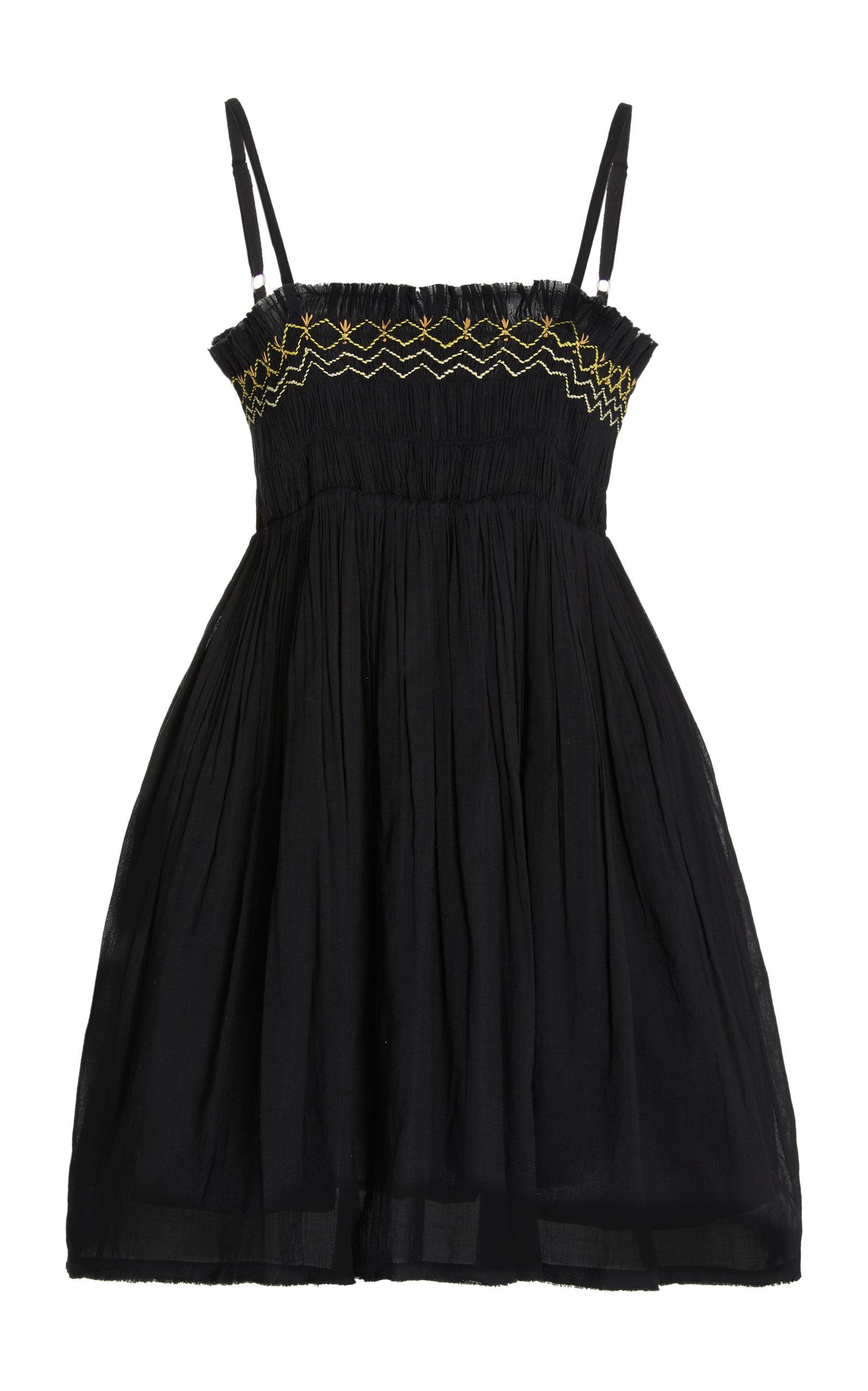 Women's Rosa Smocked Cotton Voile Mini Dress
