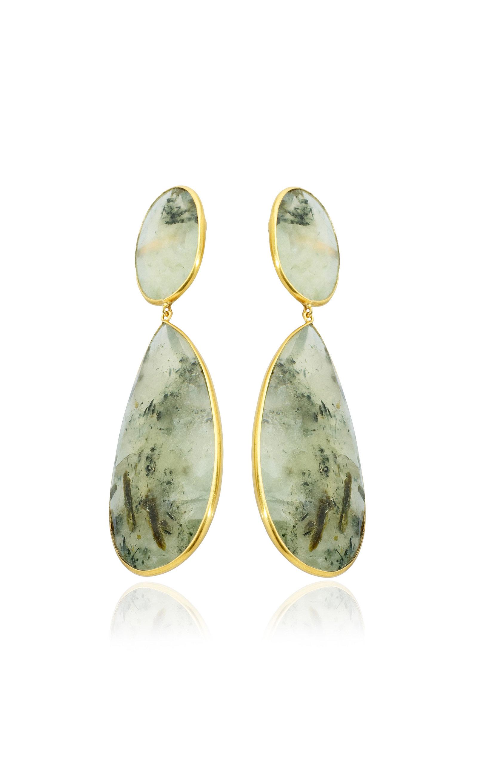 Women's 18K Yellow Gold Praynite Earrings