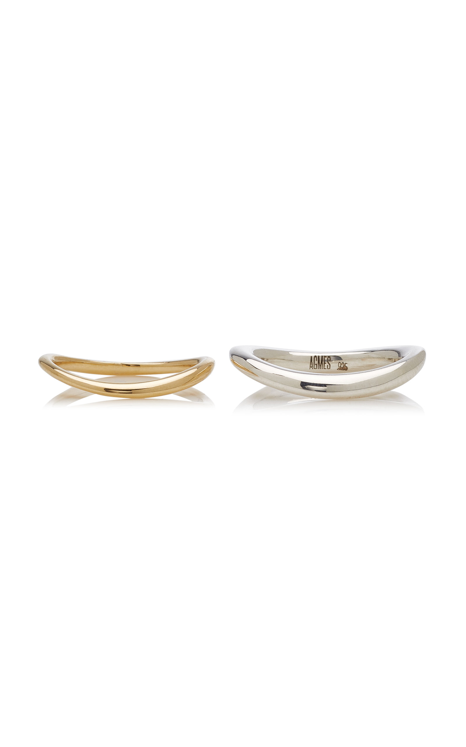 Women's Astrid 14k Gold and Silver Ring Set