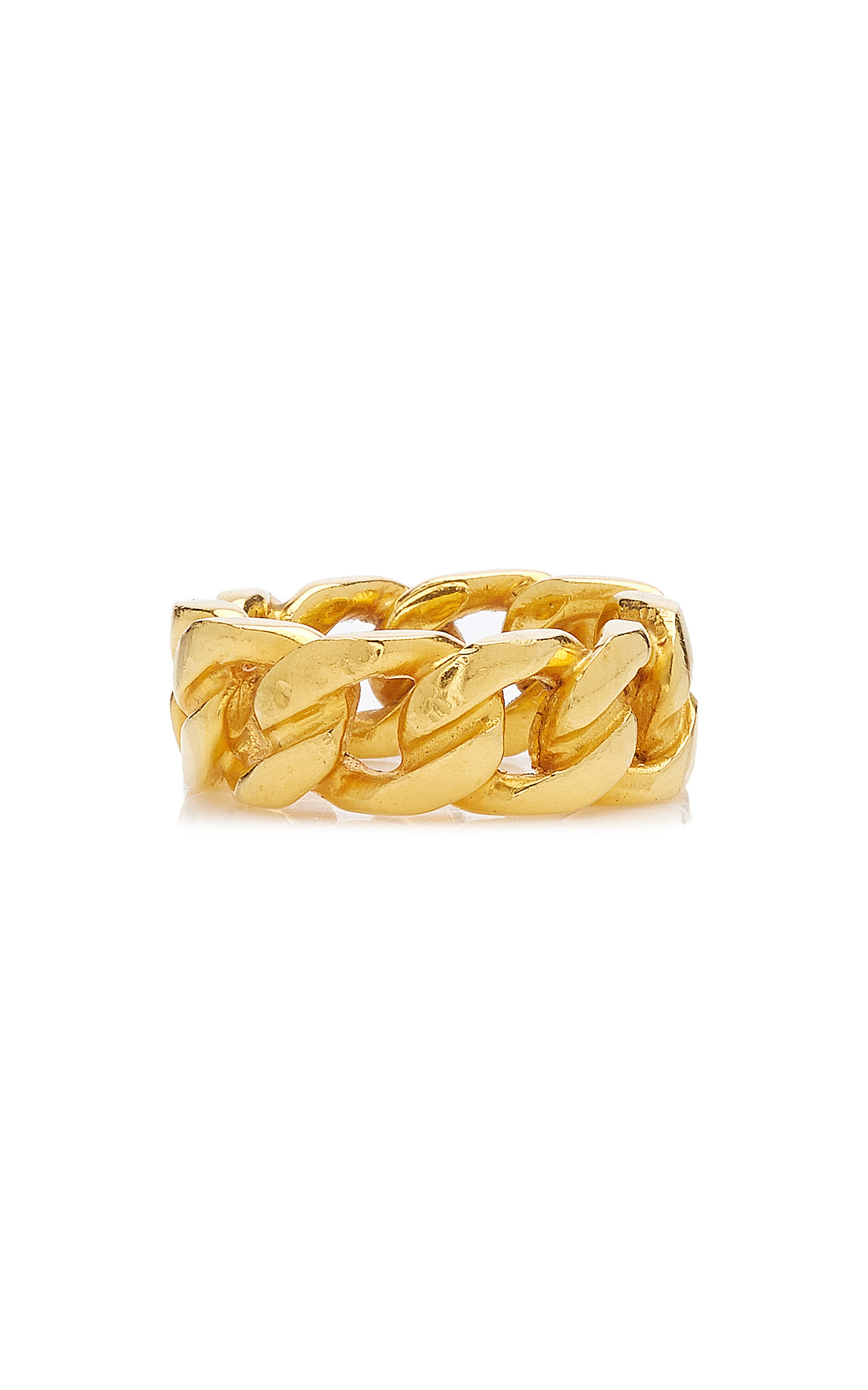 Women's 14K Gold-Plated Chain Ring