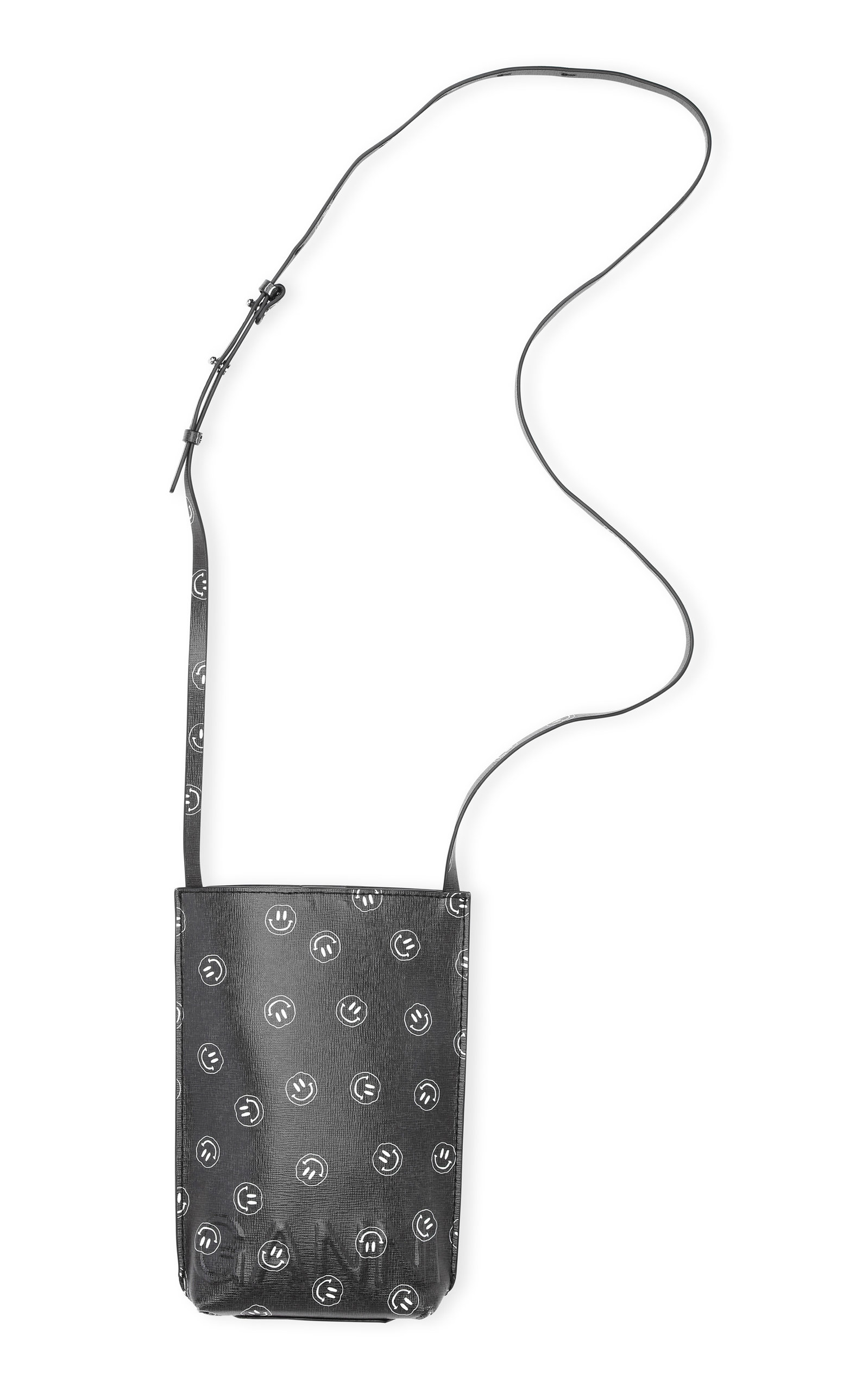 GANNI PRINTED RECYCLED LEATHER CROSSBODY BAG