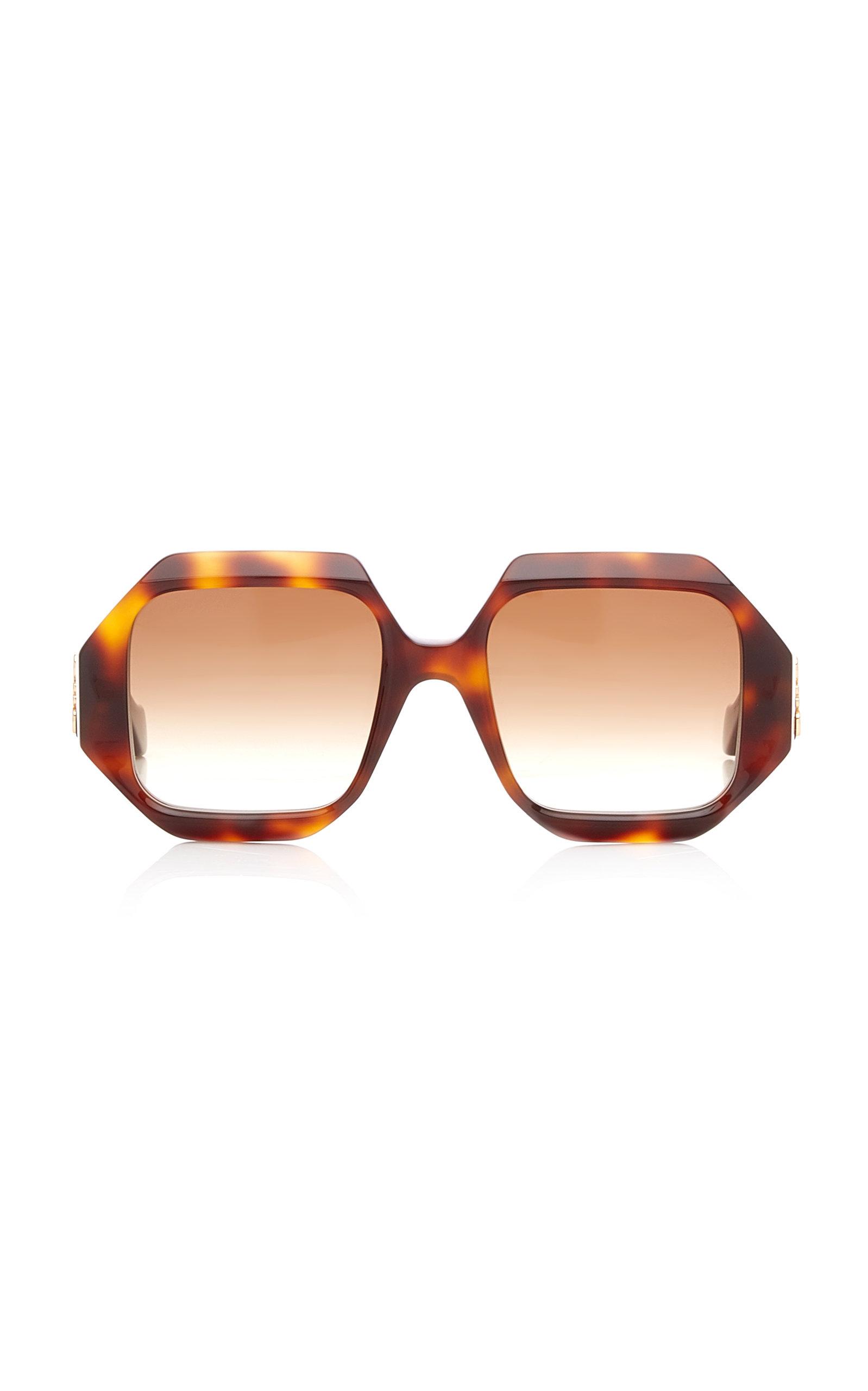 Loewe - Women's Oversized Square-Frame Acetate Sunglasses - Black/brown - Moda Operandi