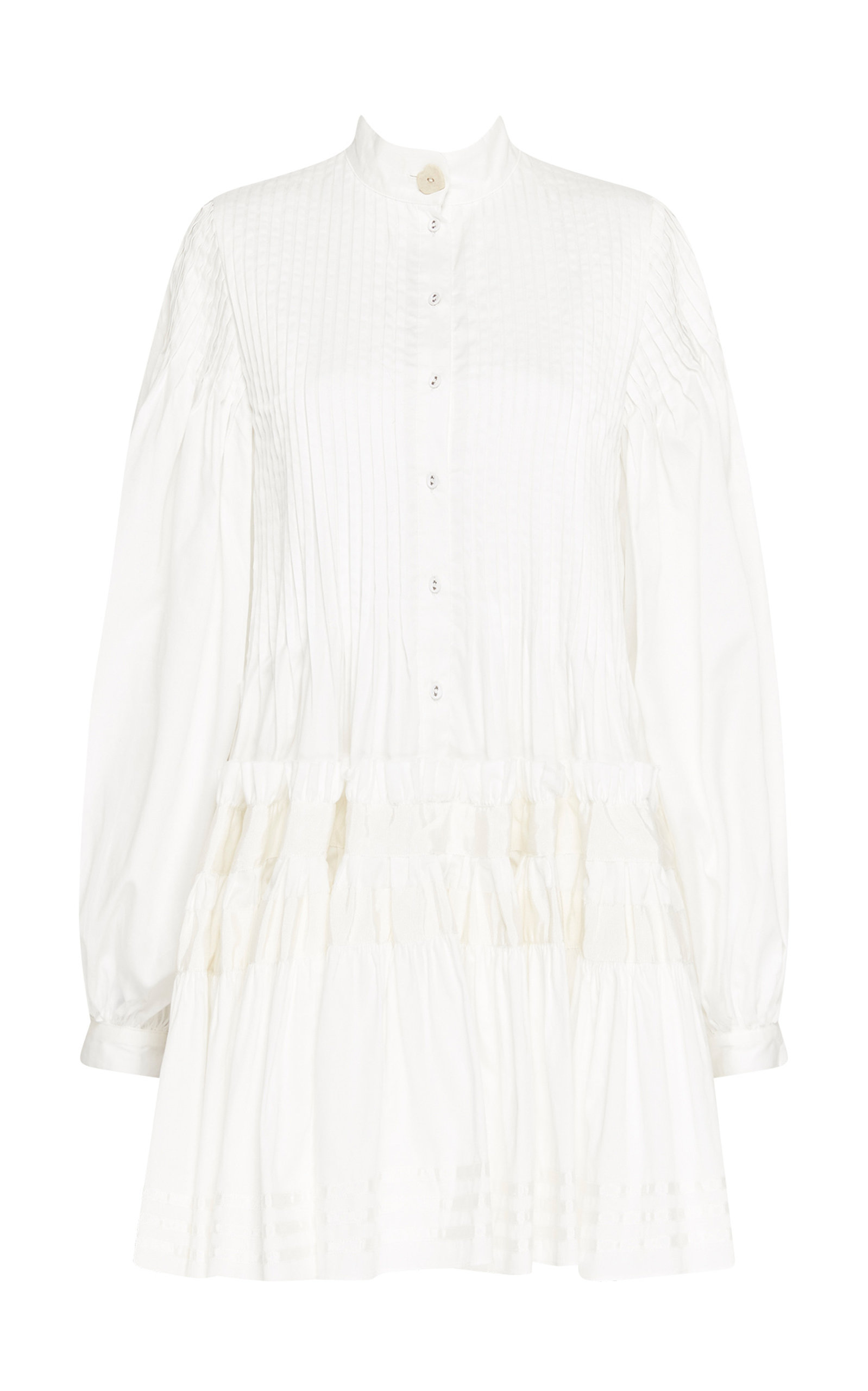 - Women's Run Free Pin-Tucked Cotton Mini Dress