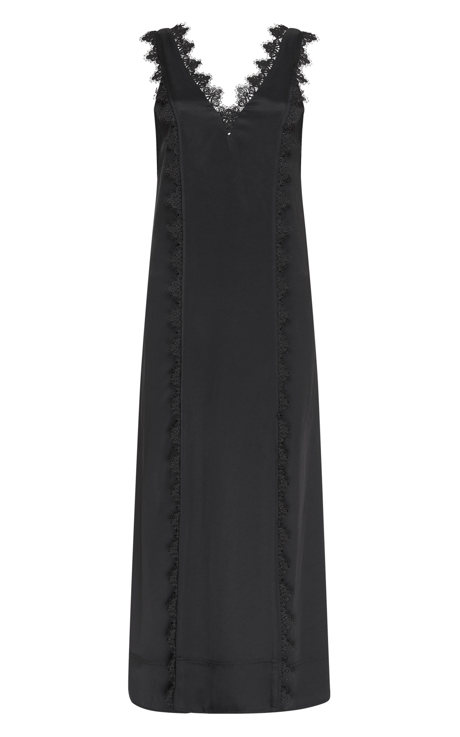 - Women's Veil Lace-Trimmed Satin Dress