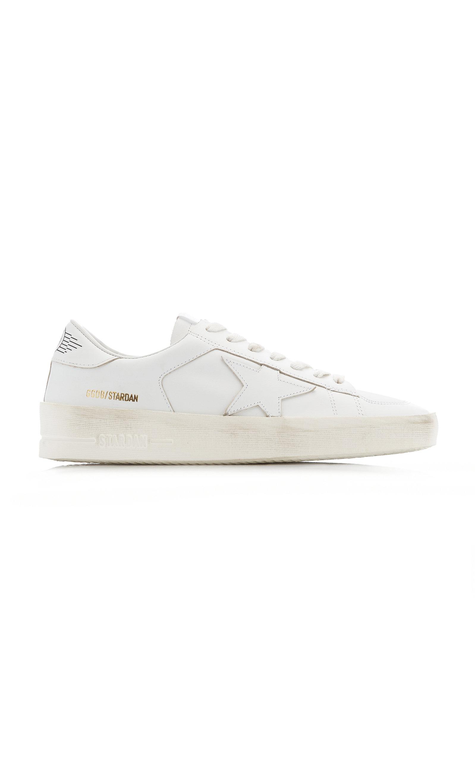 Golden Goose - Women's Stardan Leather Sneakers  - White - Moda Operandi