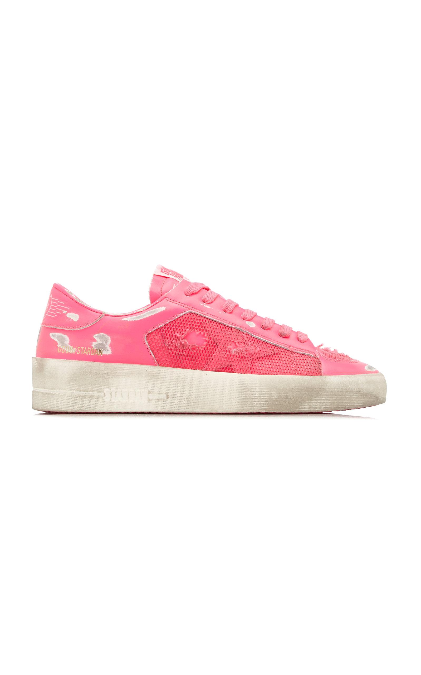 Golden Goose - Women's Stardan Leather Sneakers  - Pink - Moda Operandi