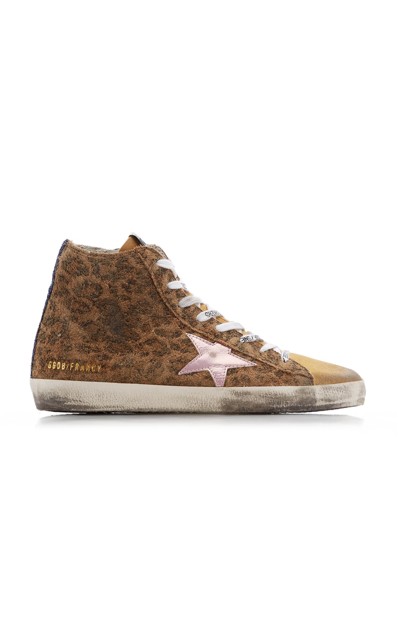 Golden Goose - Women's Francy Leopard-Print Suede Sneakers - Animal - Moda Operandi