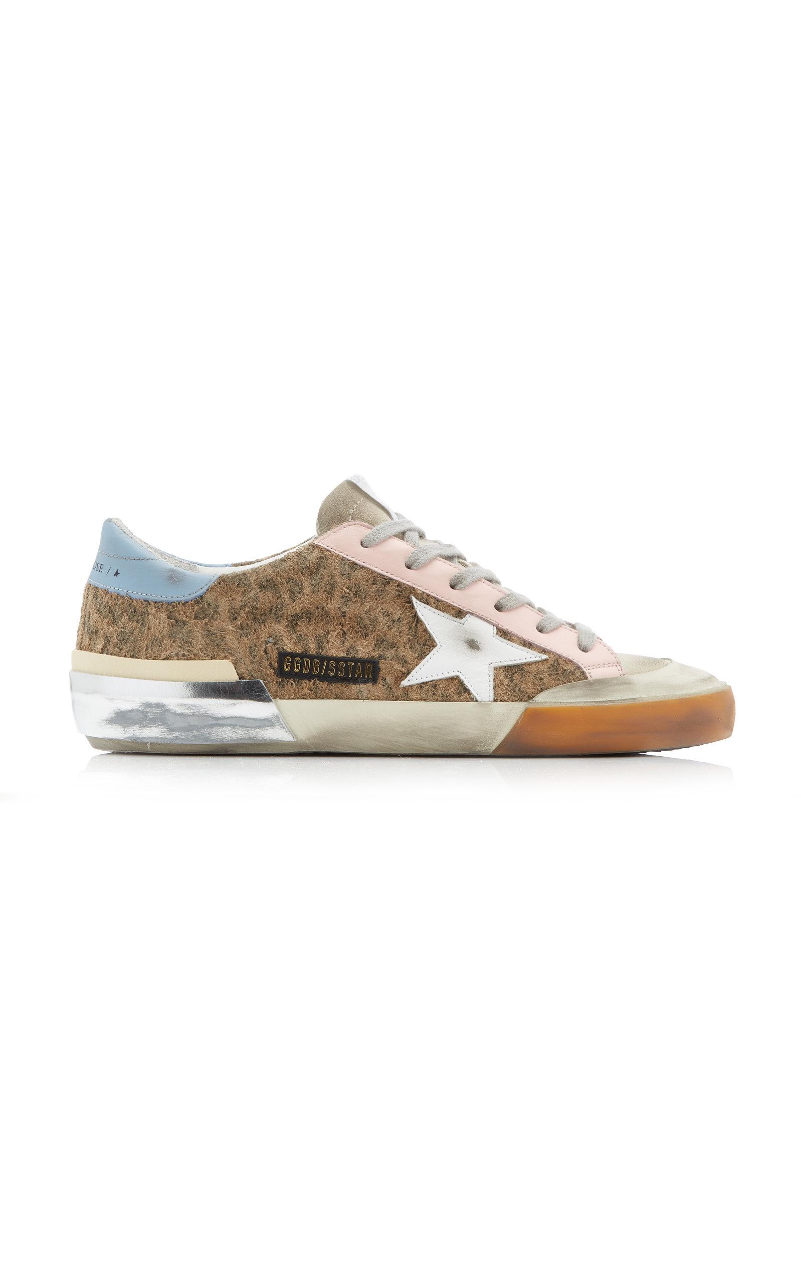Golden Goose - Women's Super-Star Penstar Leopard-Print Suede and Leather Sneakers - Brown - Moda Operandi