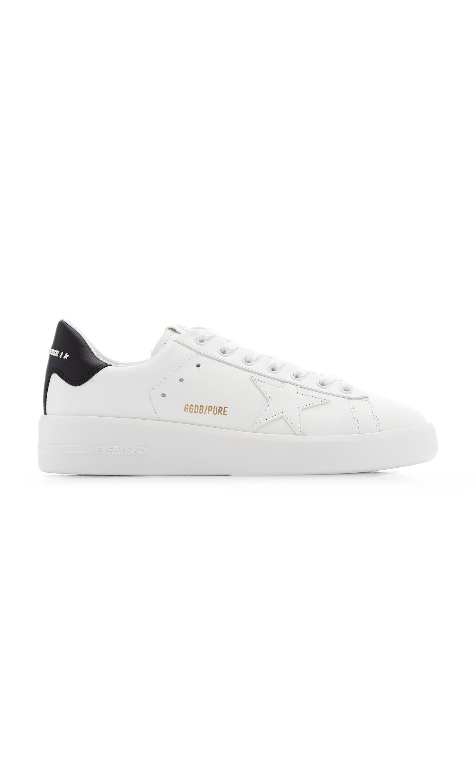 Golden Goose - Women's Pure Star Leather Sneakers - Black/white - Moda Operandi