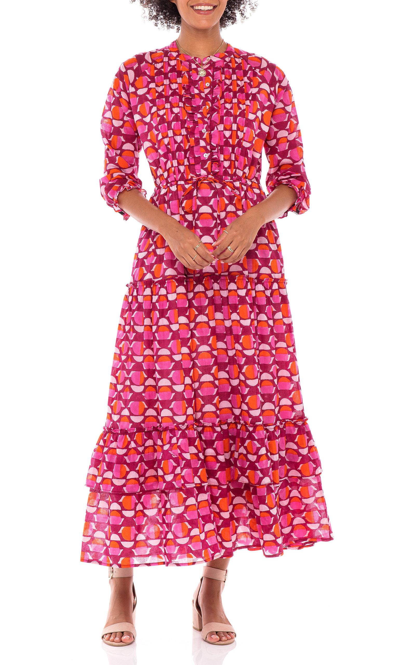 Women's Brenda Floral-Print Cotton Voile Dress