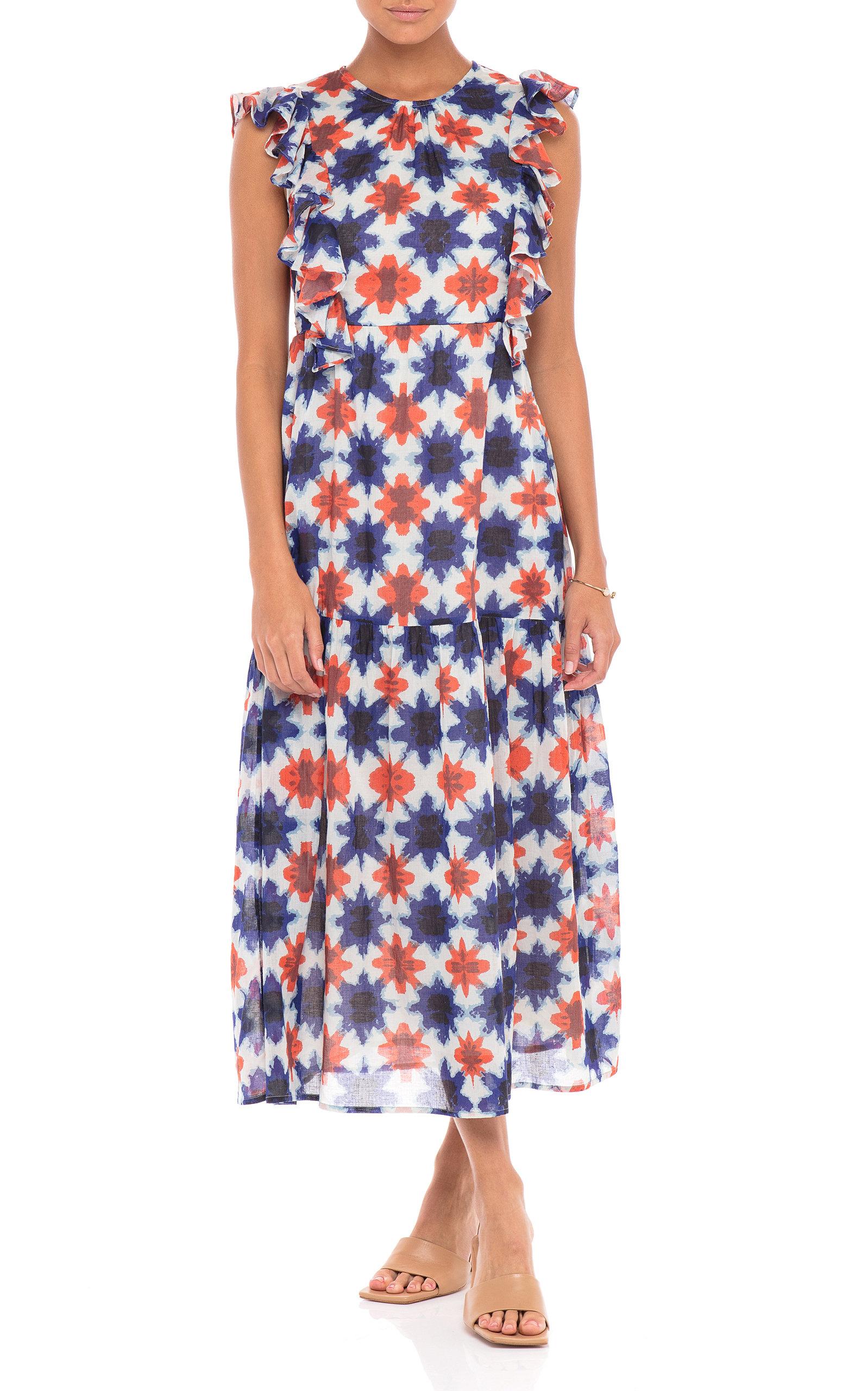 Banjanan - Women's Luna Cotton Voile Dress - Print - Moda Operandi