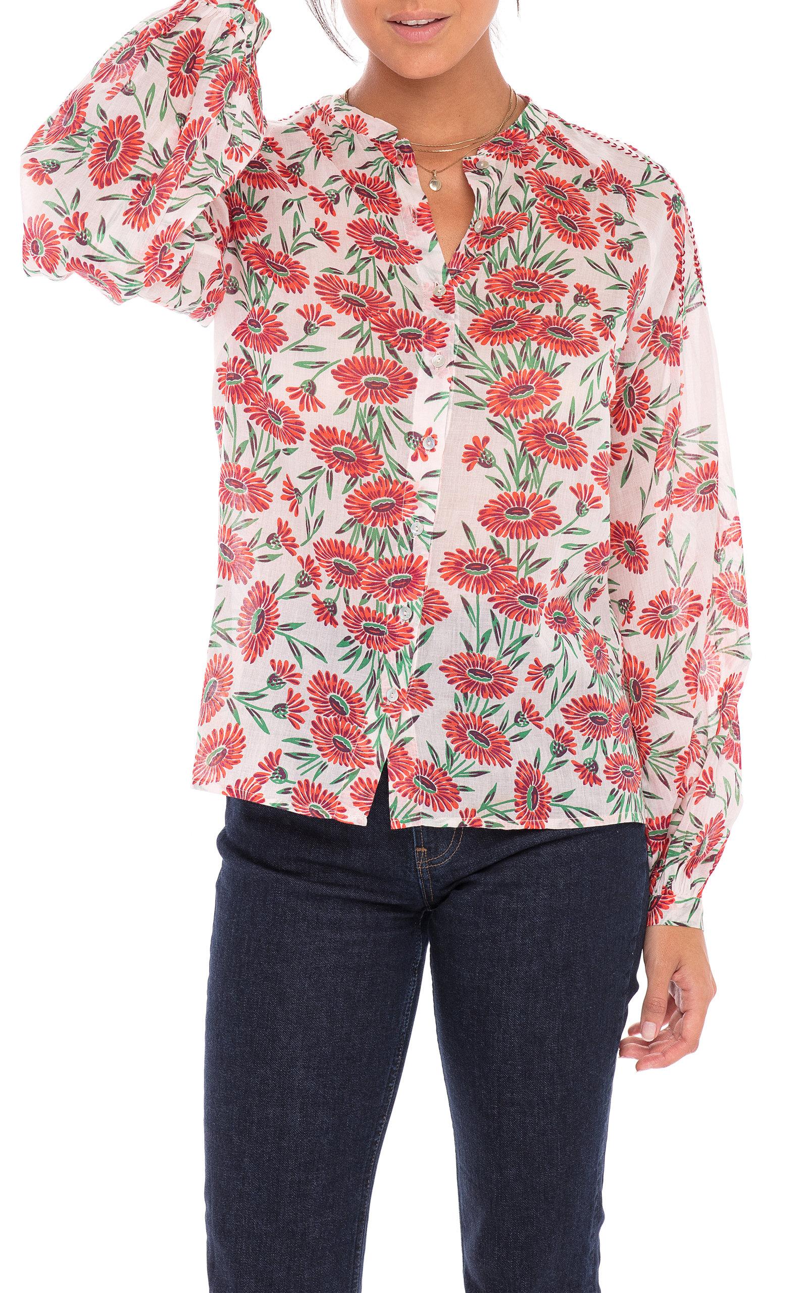 Women's Ella Floral Cotton Voile Shirt