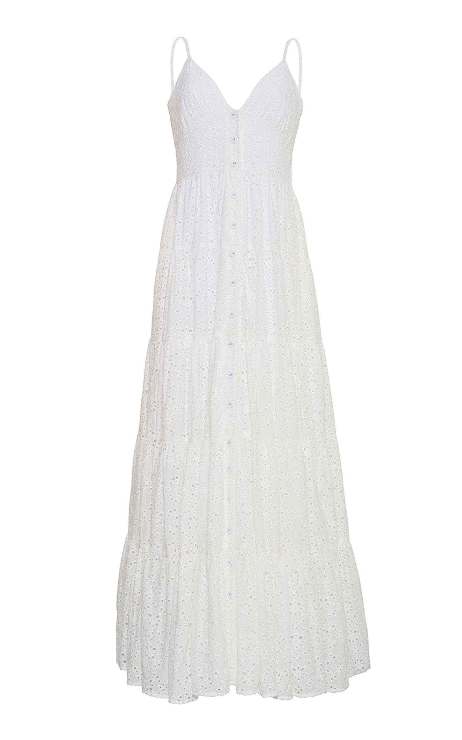 Women's Nathali Cotton Broderie Anglais Maxi Dress